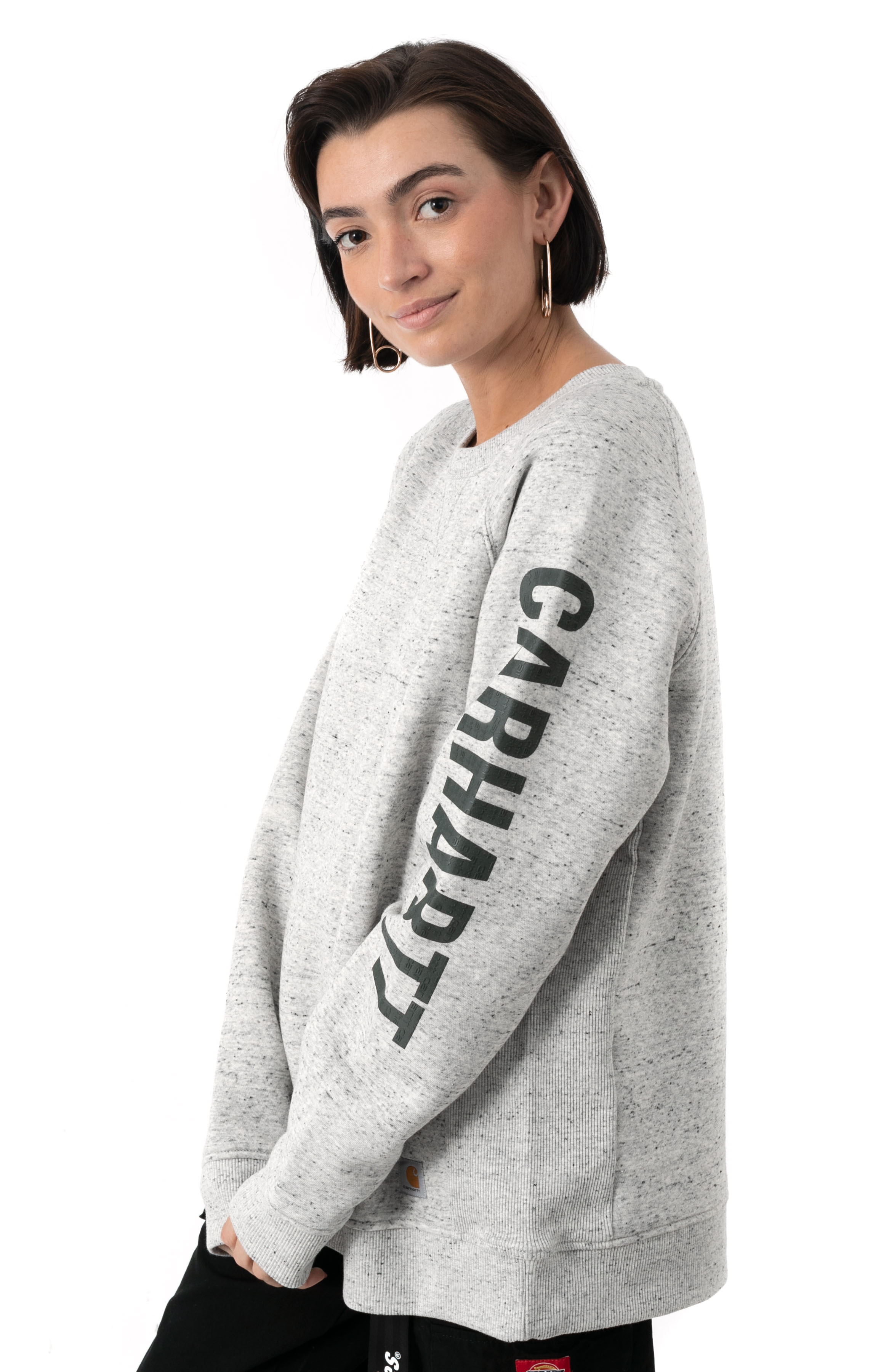 (104410) Relaxed Fit MW Graphic Sweatshirt - Asphalt Heather Nep  2