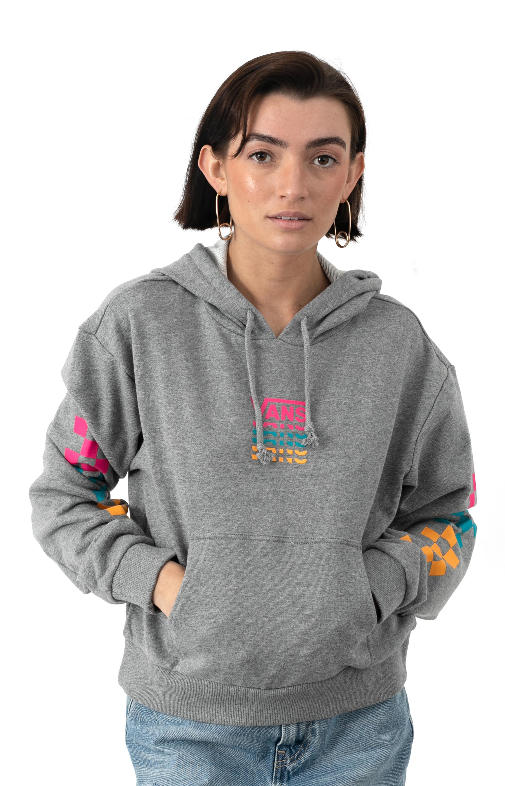 World Check Pullover Hoodie - Grey Heather