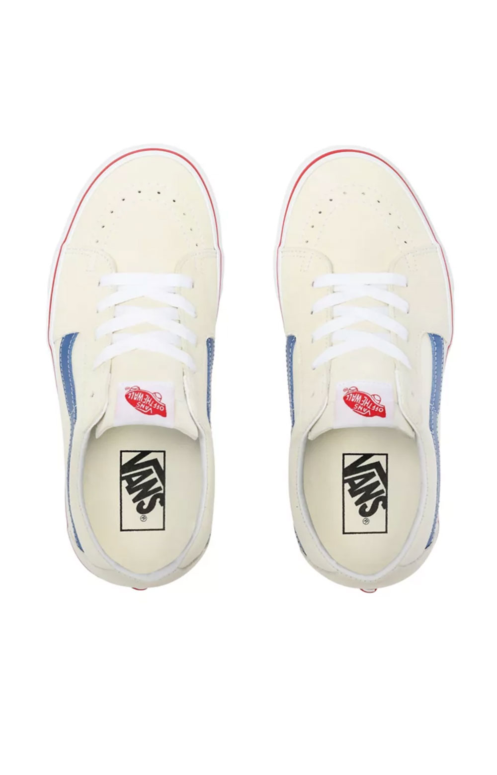 (UUK24I) Sk8-Low Shoes - Classic White/Navy 2