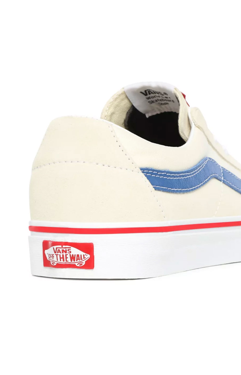 (UUK24I) Sk8-Low Shoes - Classic White/Navy 6