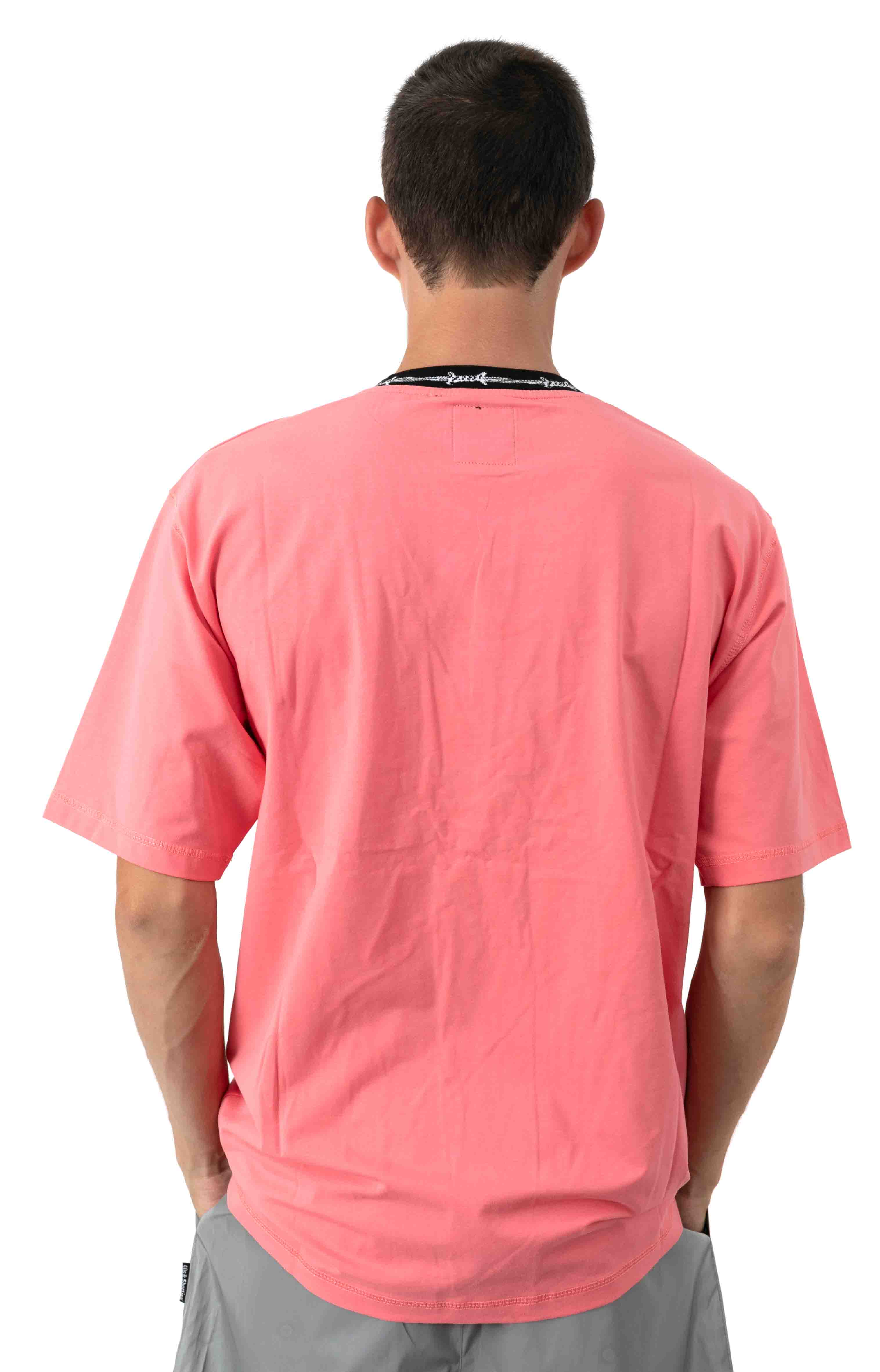 Barbwire Pocket T-Shirt - Coral 3