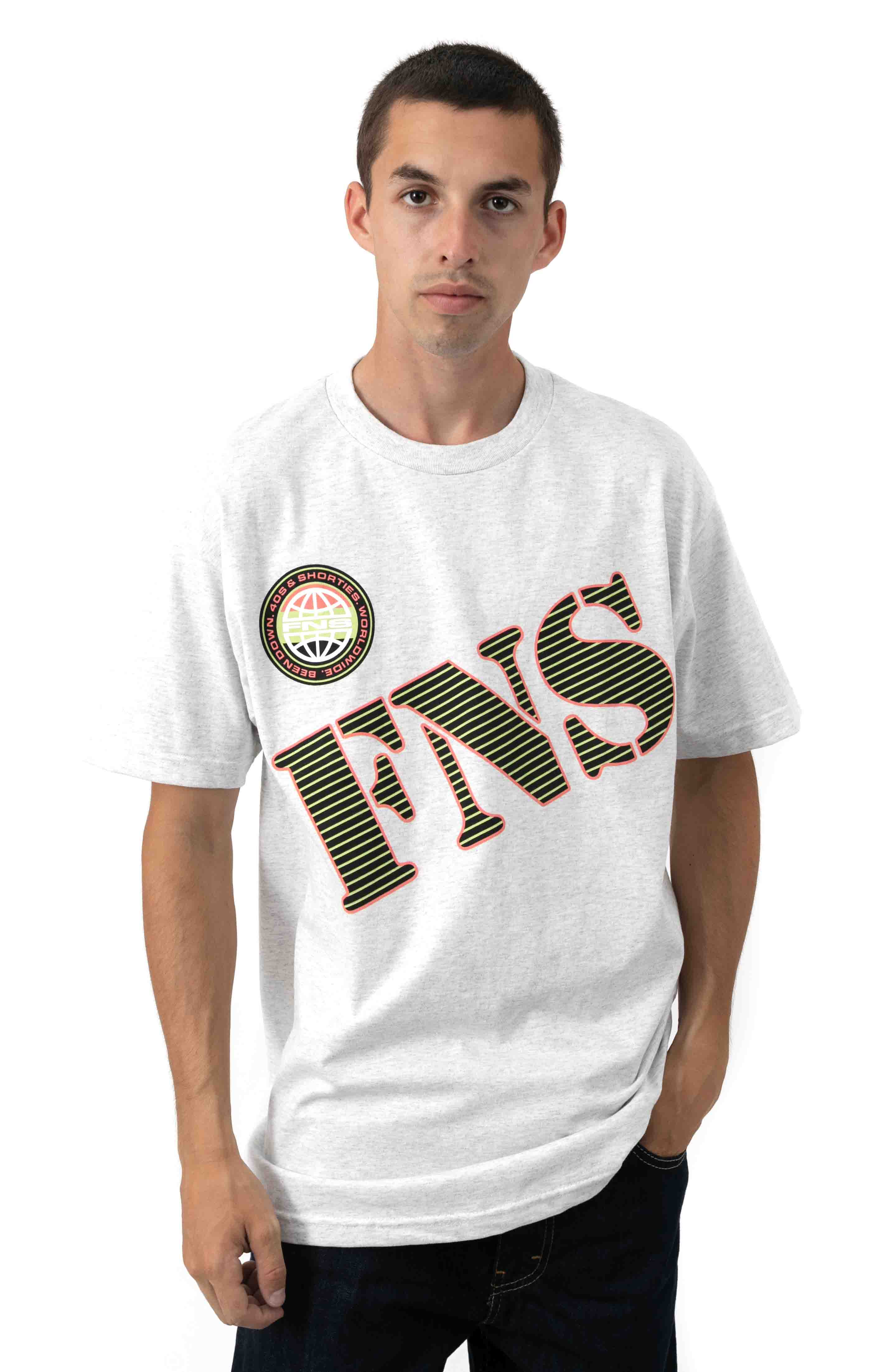 FNS Retro T-Shirt - Ash Heather