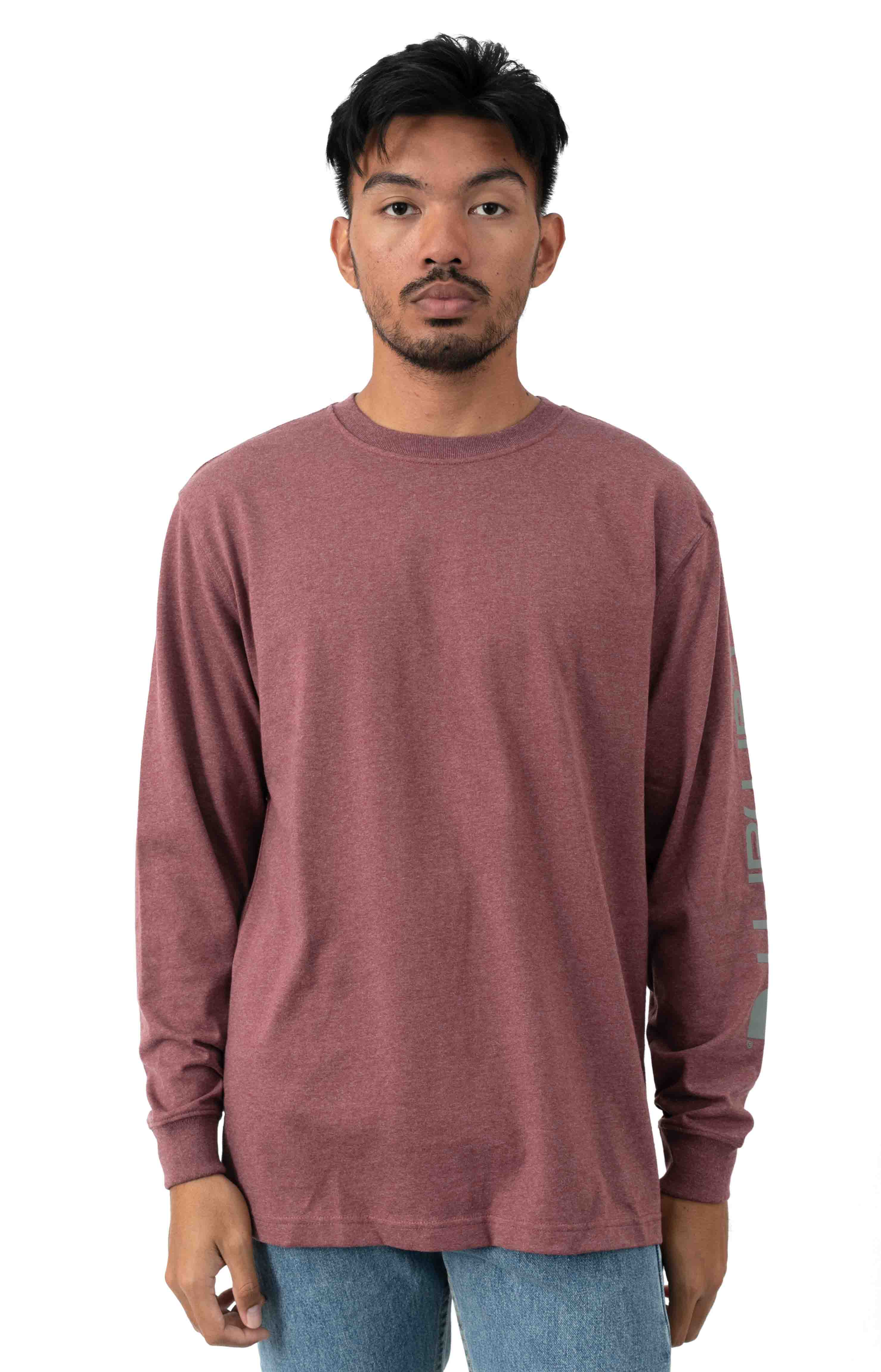 (K231) Signature Sleeve Logo L/S Shirt - Iron Ore Heather