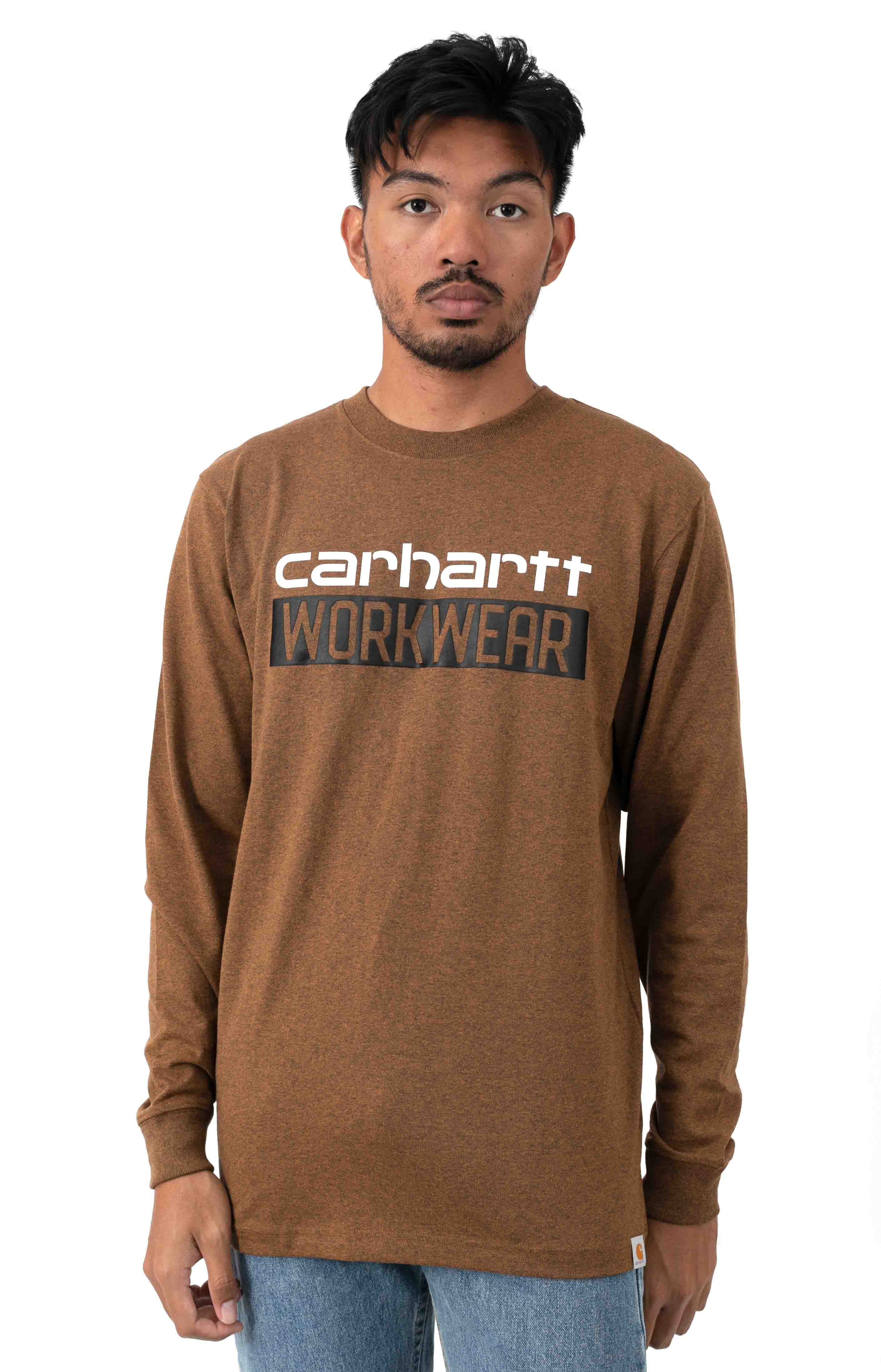 (104431) Original Fit HW L/S Workwear Graphic Shirt - Oiled Walnut Heather