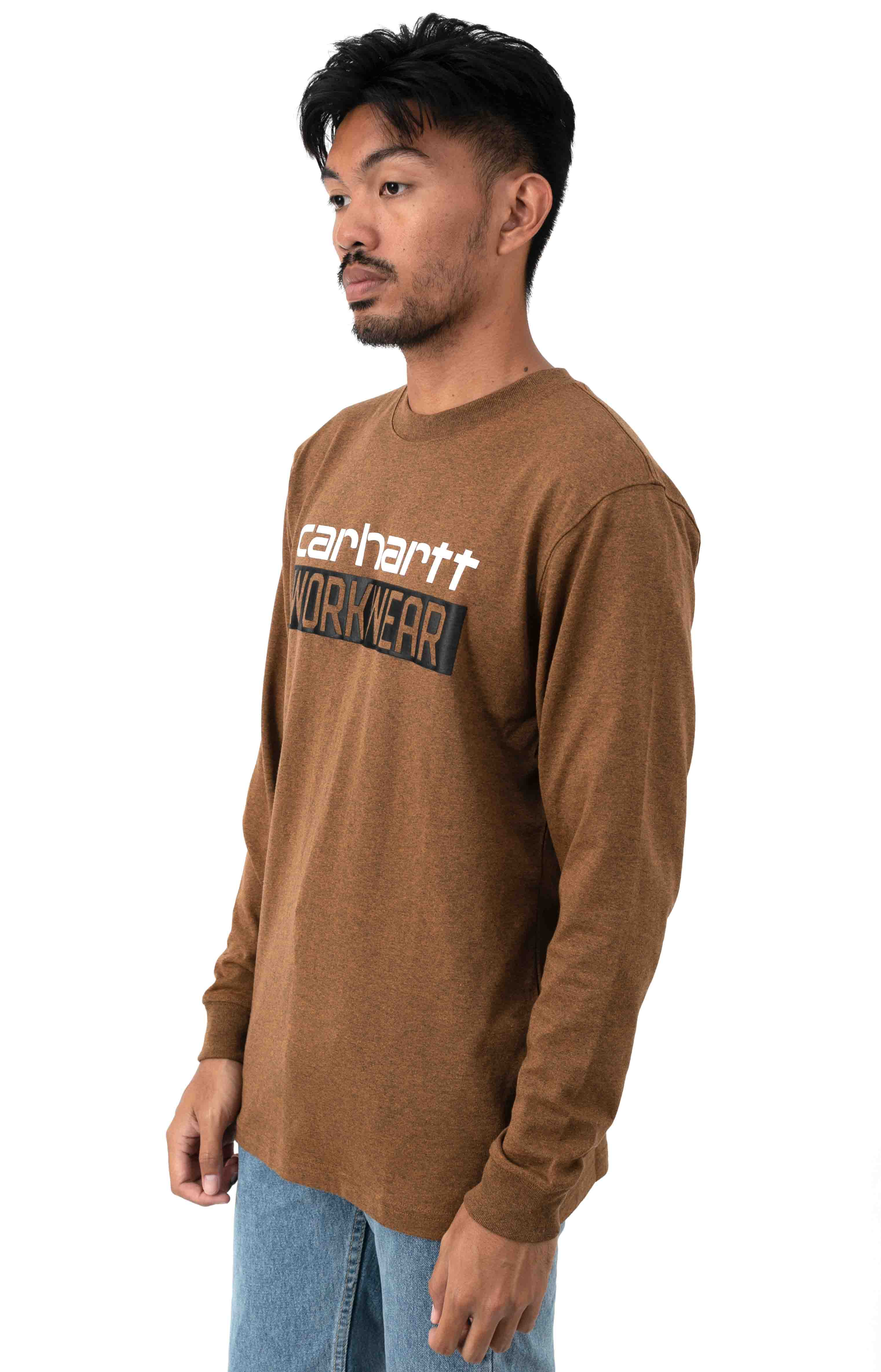 (104431) Original Fit HW L/S Workwear Graphic Shirt - Oiled Walnut Heather  2