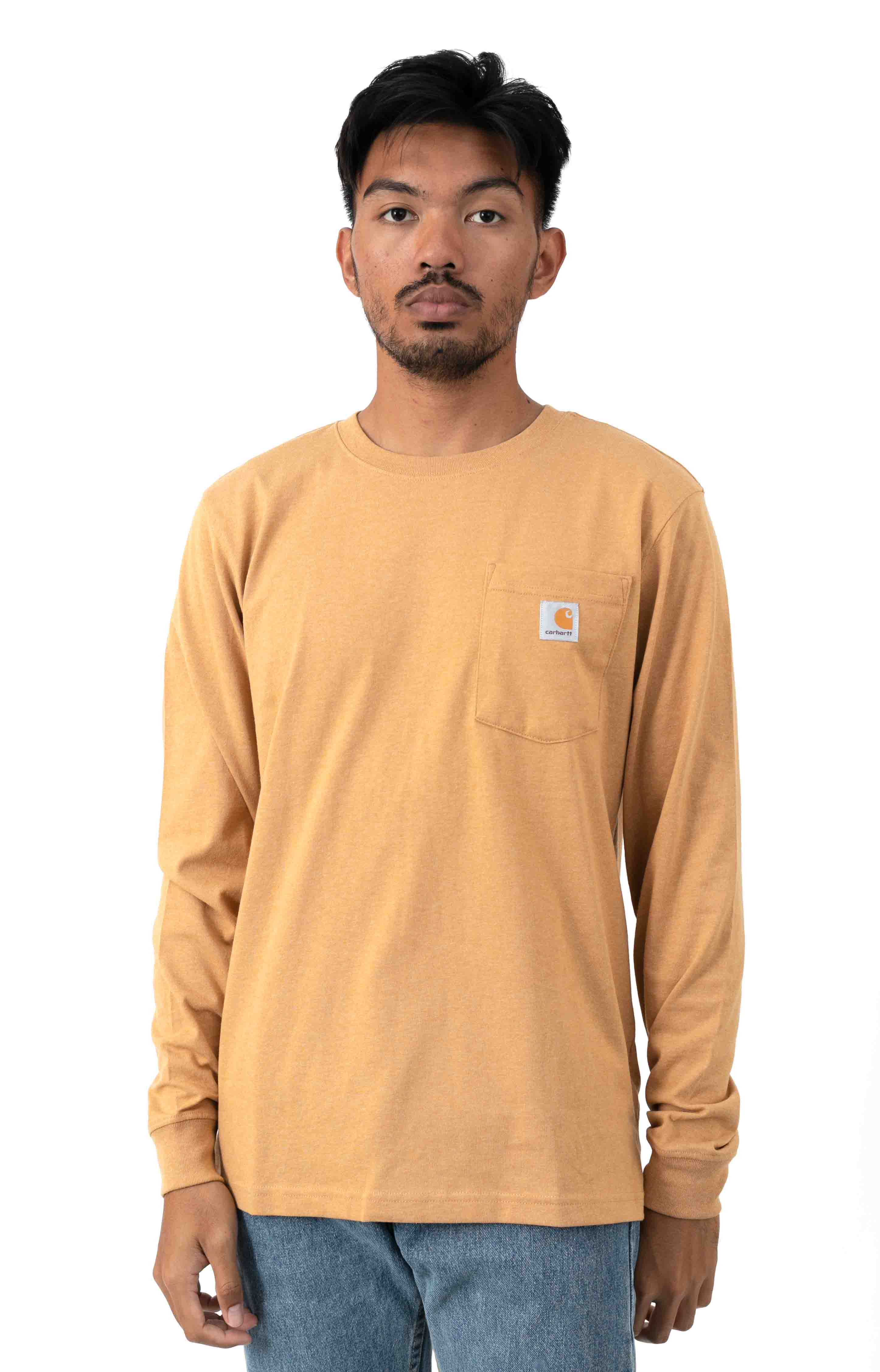 (104434) Relaxed Fit HW L/S Pocket Logo Graphic Shirt - Yellowstone Heather
