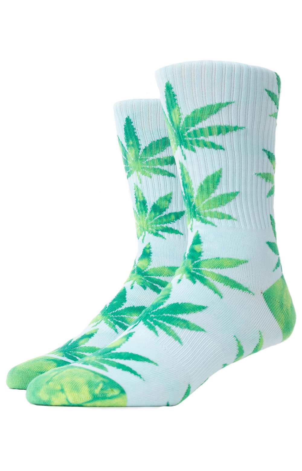 Tie Dye Plantlife Leaves Socks - Aurora Yellow