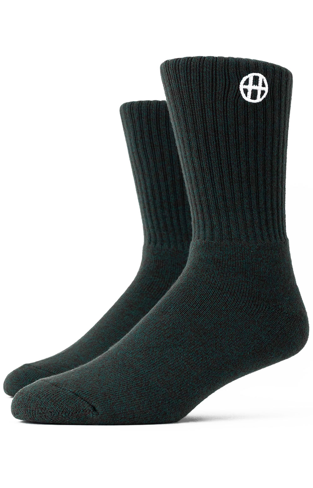 Heather Circle H Crew Socks - Jade