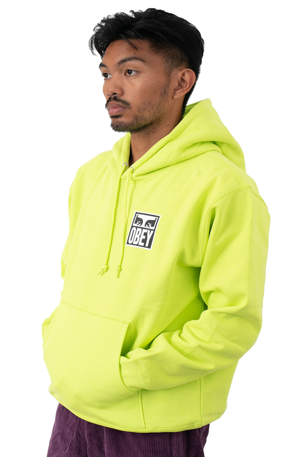 Obey Eyes Icon 2 Pullover Hoodie - Lime Punch 2