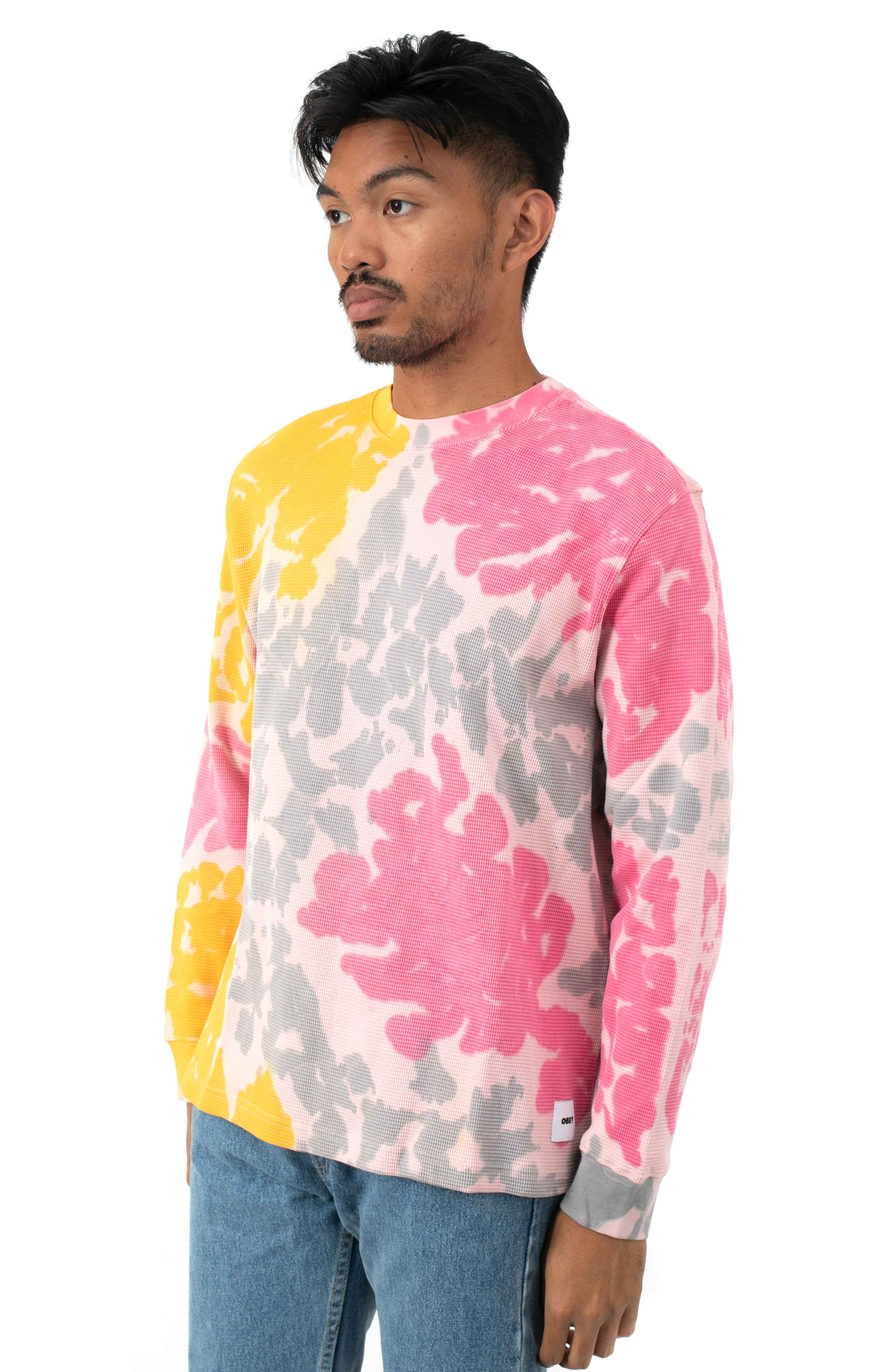 Sustainable Tie-Dye Thermal L/S Shirt - Yellow Multi  2