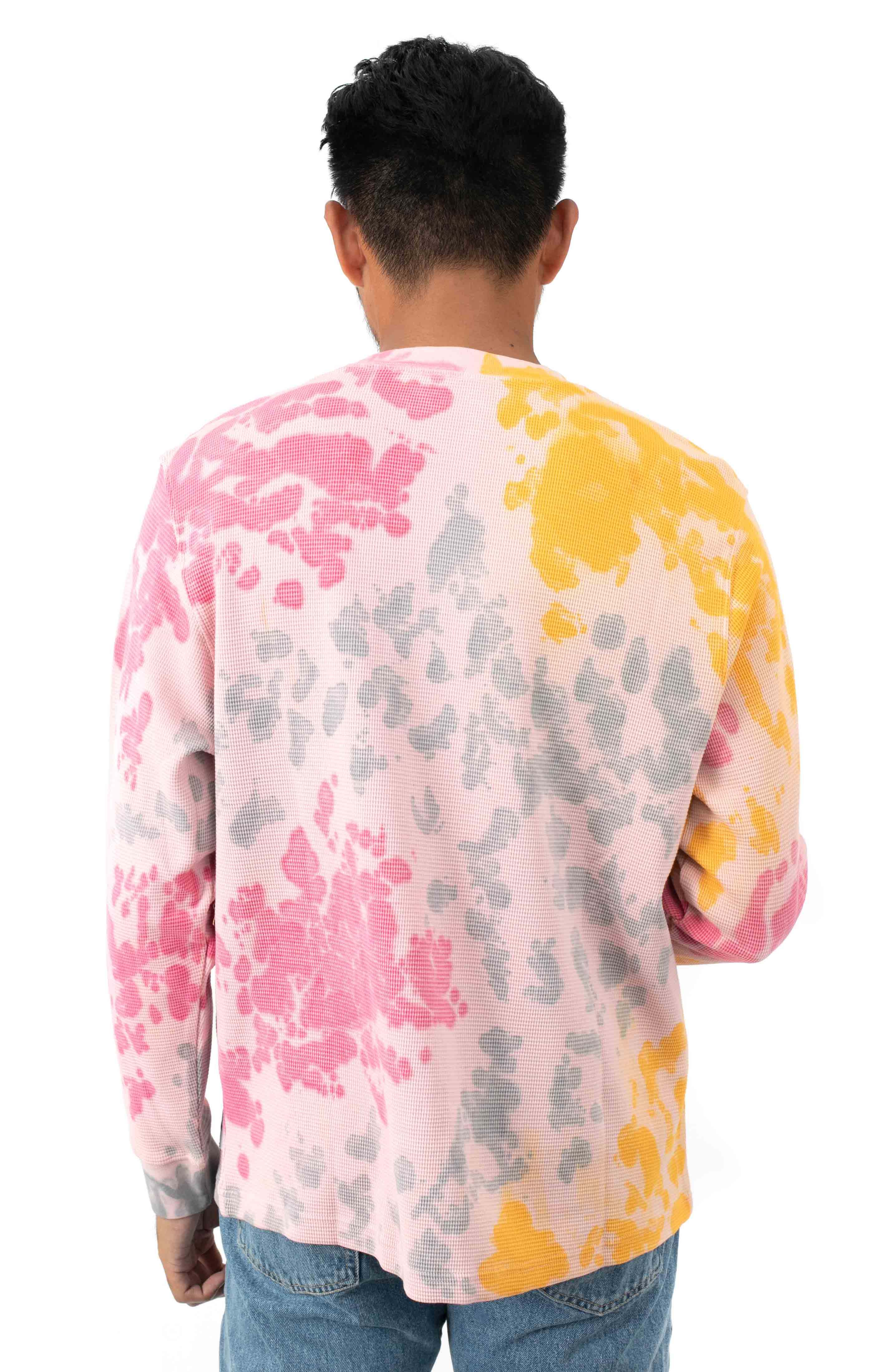 Sustainable Tie-Dye Thermal L/S Shirt - Yellow Multi  3