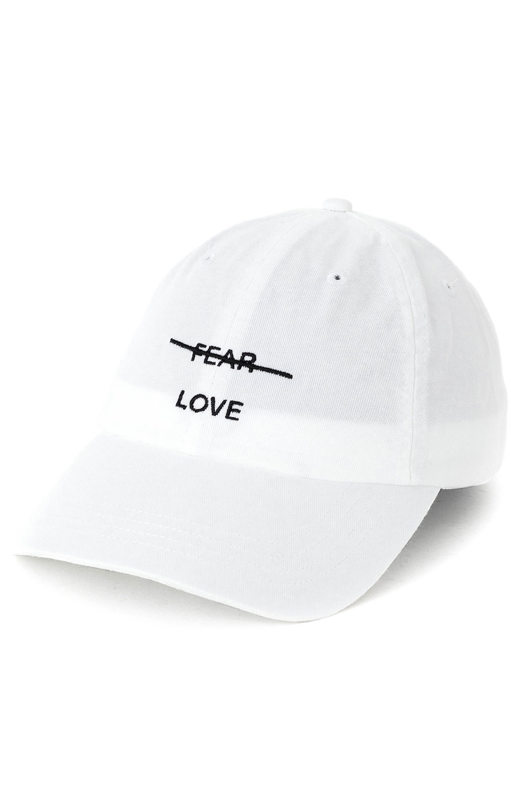 Love Over Fear Dad Hat - White