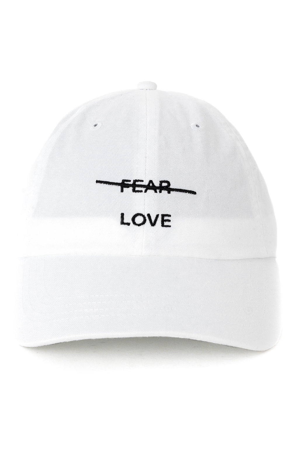 Love Over Fear Dad Hat - White  2