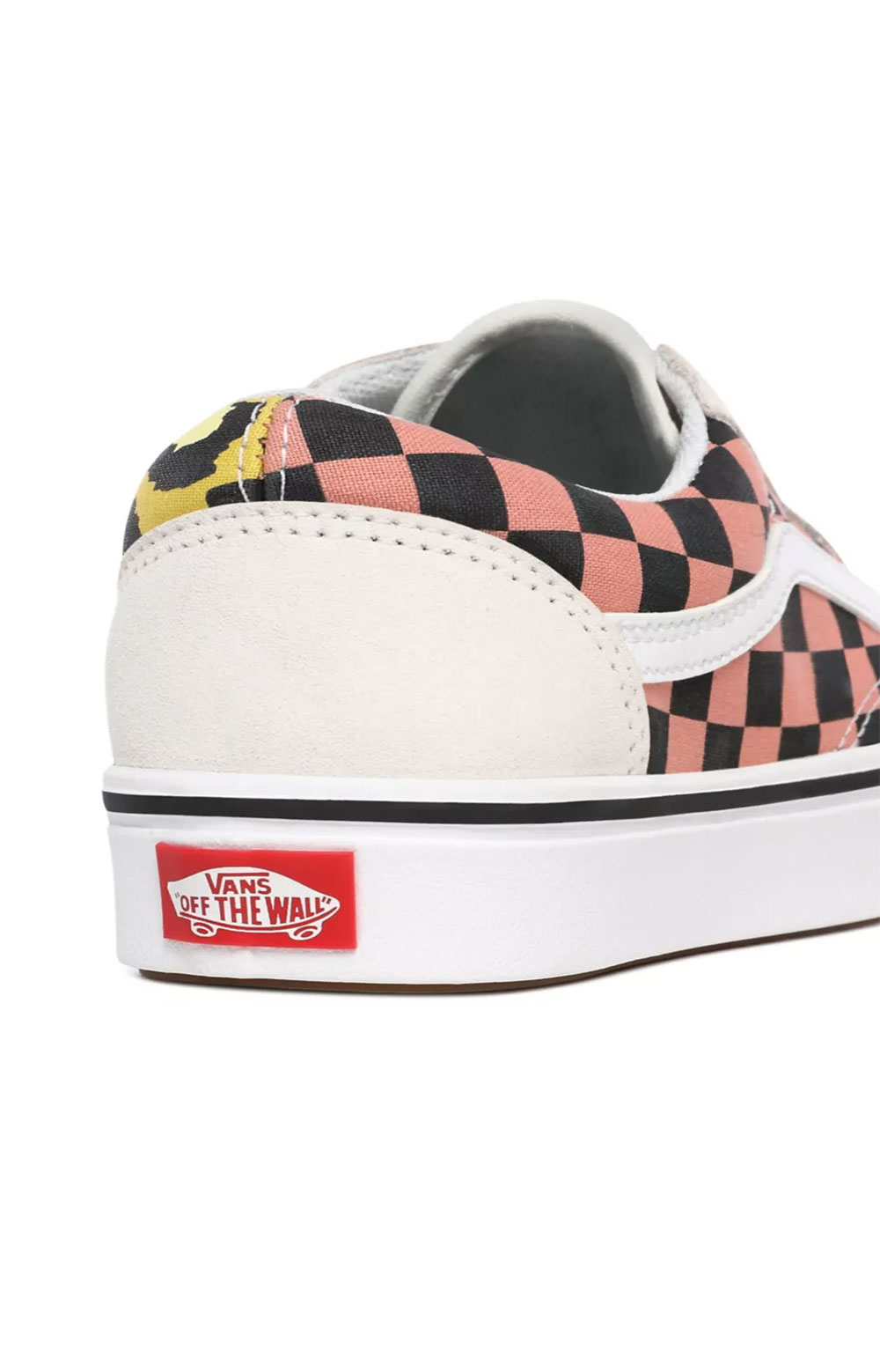 (WMA1PC) Mixed Media ComfyCush Old Skool Shoes - White/Multi 5