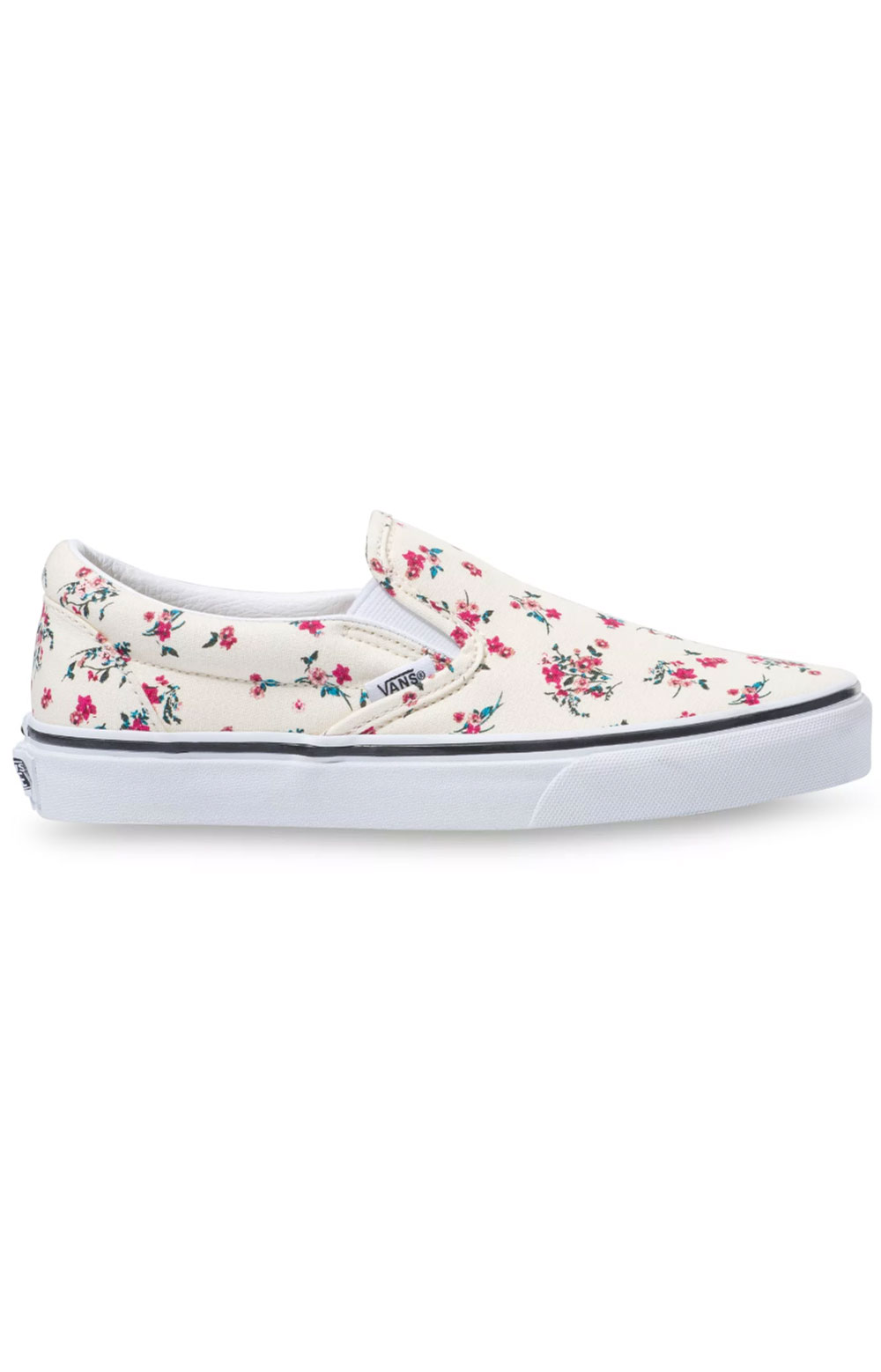 (U3816Z) Ditsy Floral Classic Slip-On Shoes - Classic White/True White