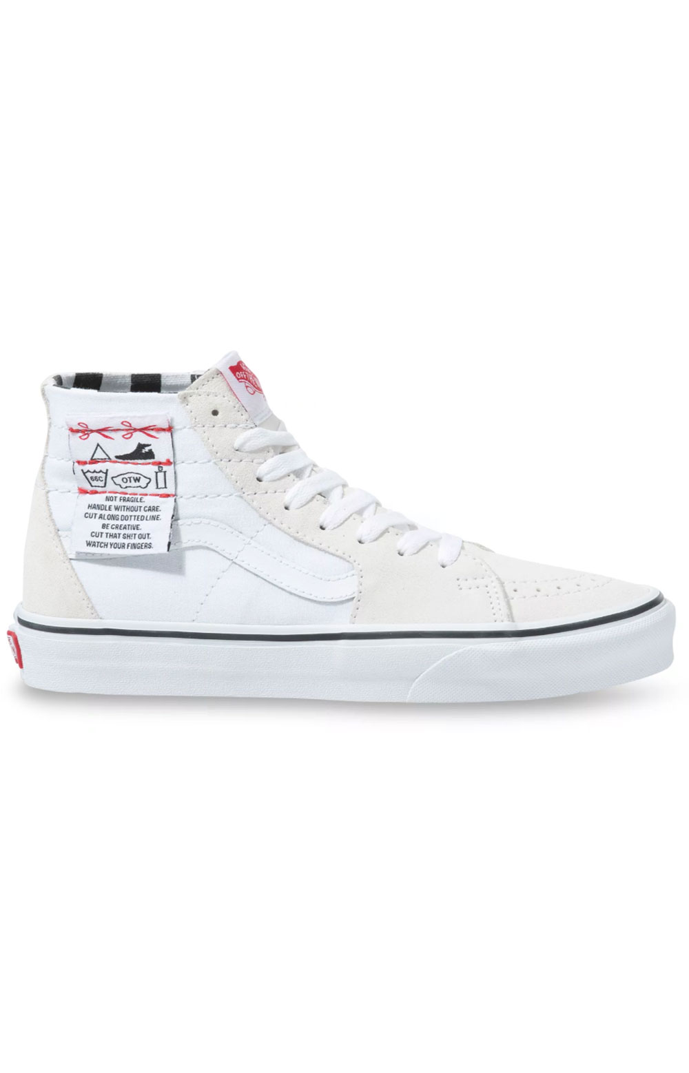 (U1624F) DIY Sk8-Hi Tapered Shoes - White