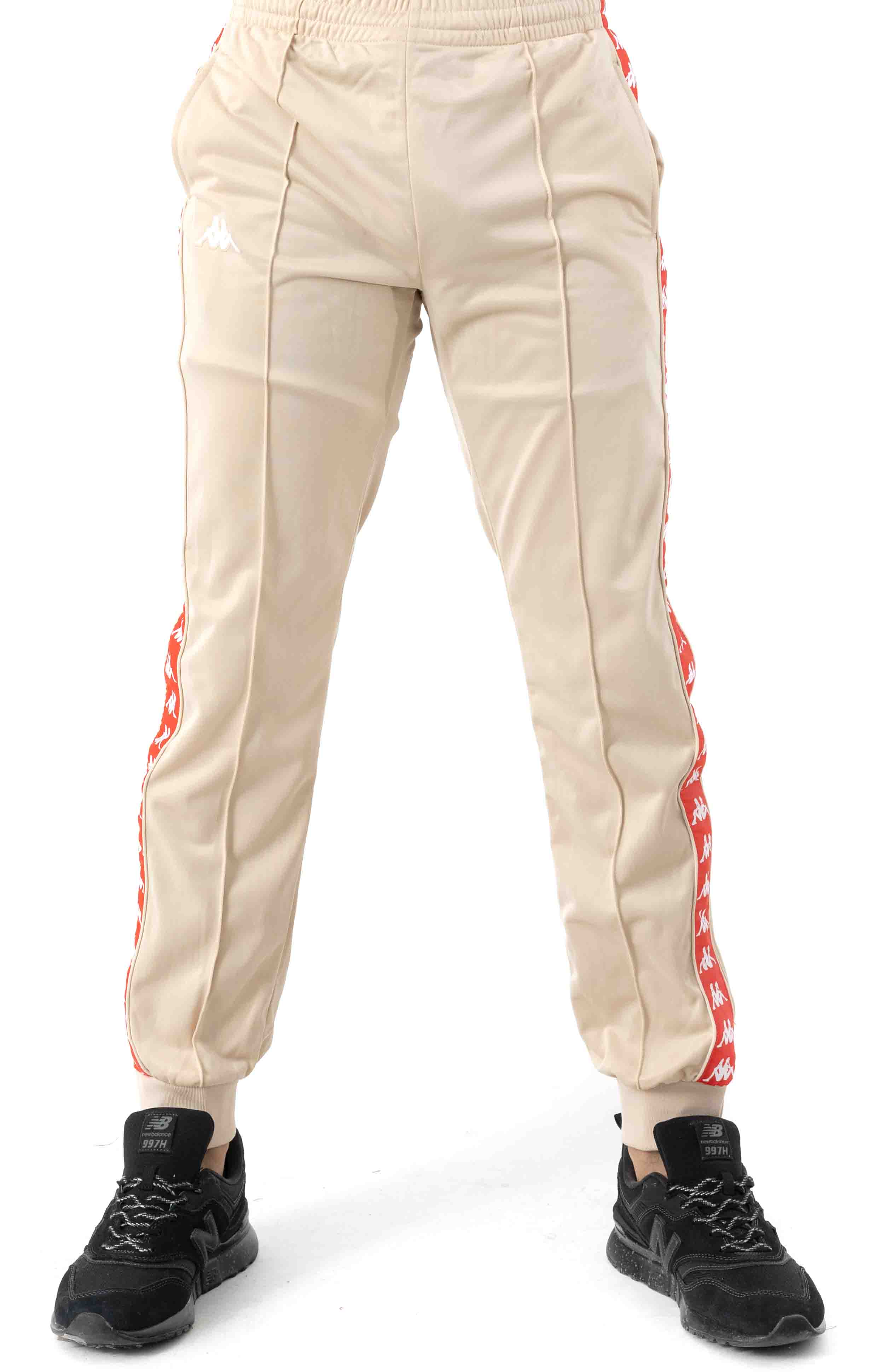 222 Banda Rastoriazz Trackpant - Beige/Red Flame 2