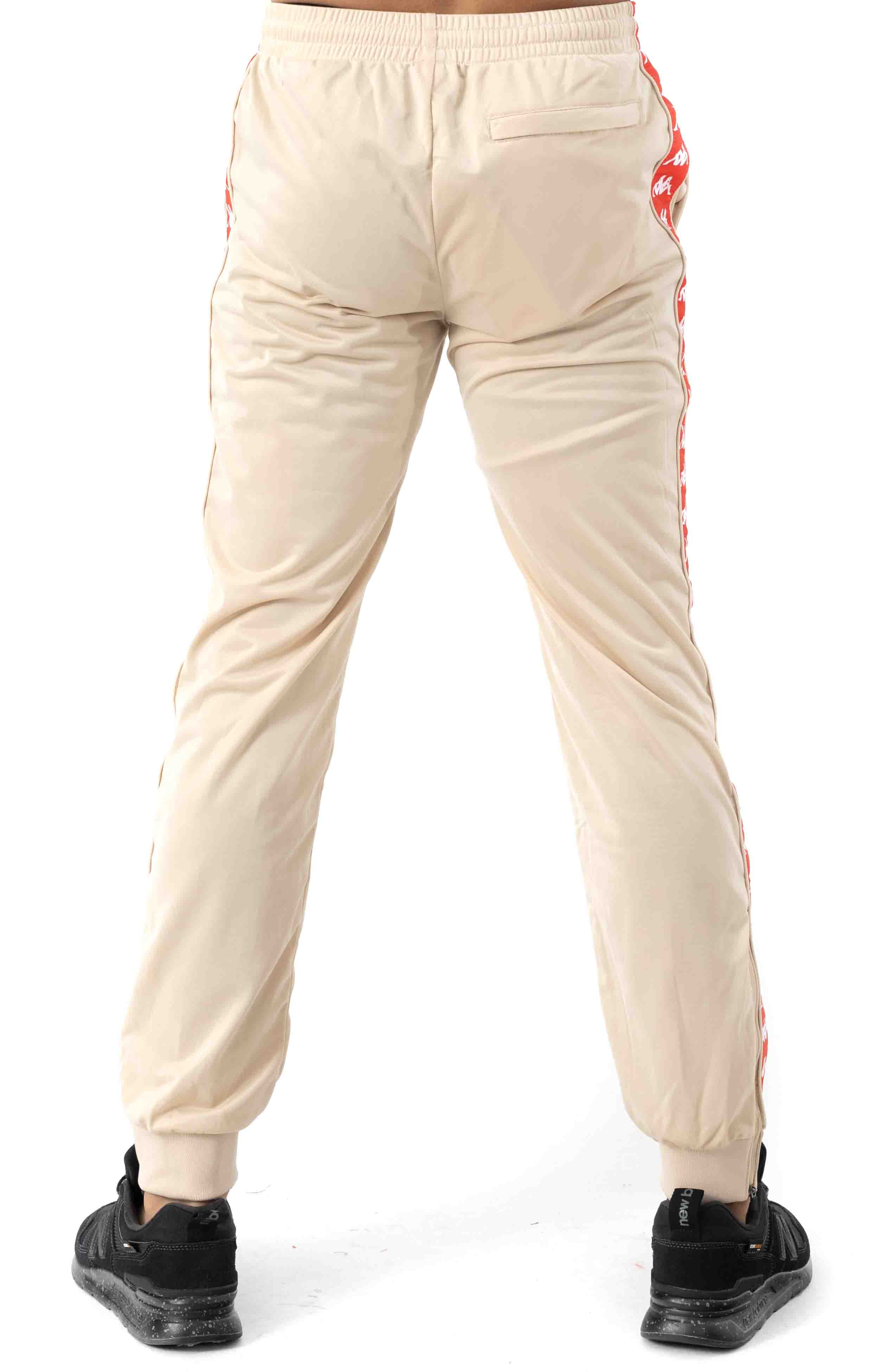 222 Banda Rastoriazz Trackpant - Beige/Red Flame 3