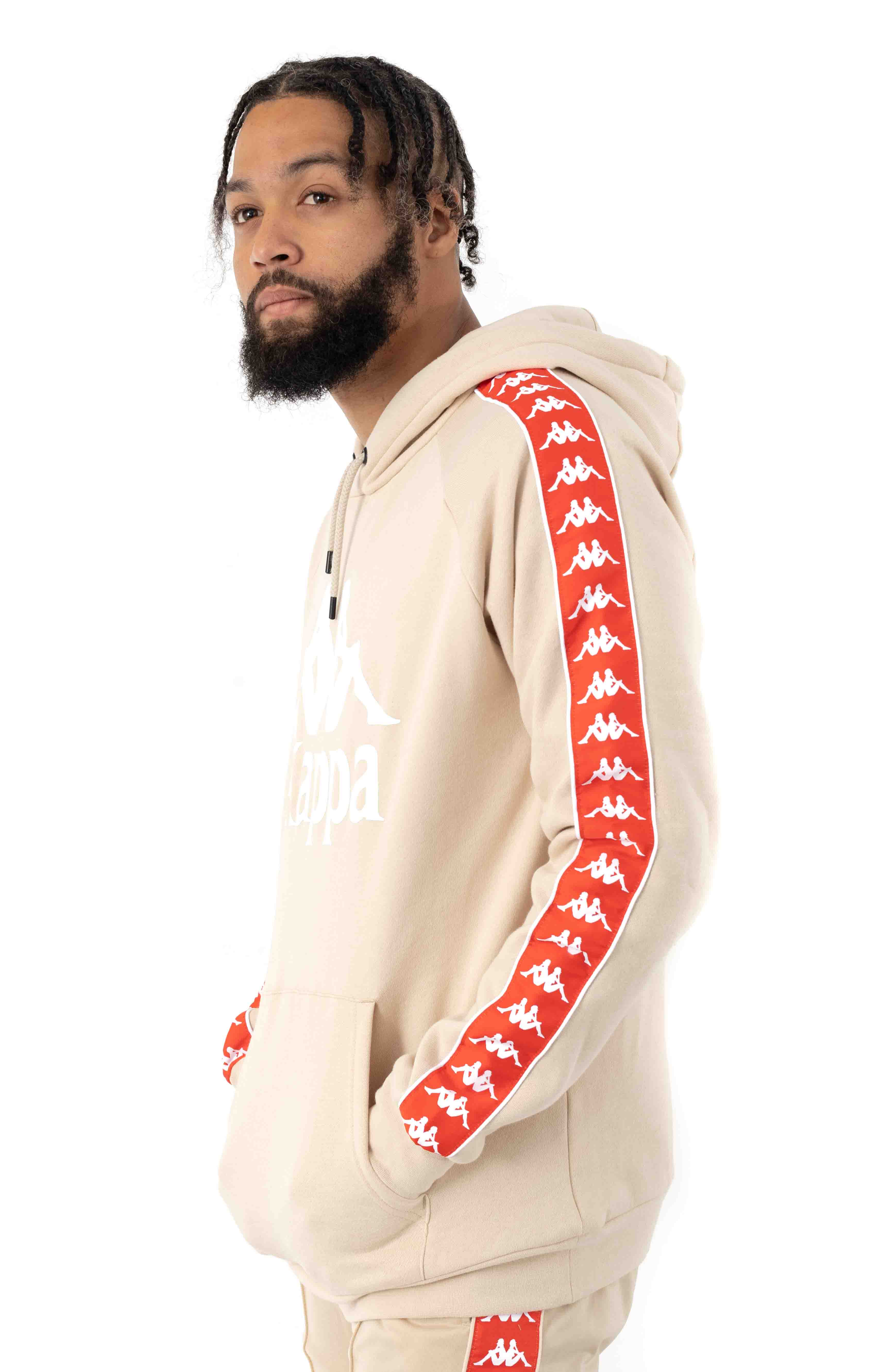 222 Banda Authentic Hurtado 2 Pullover Hoodie - Beige/Orange 2