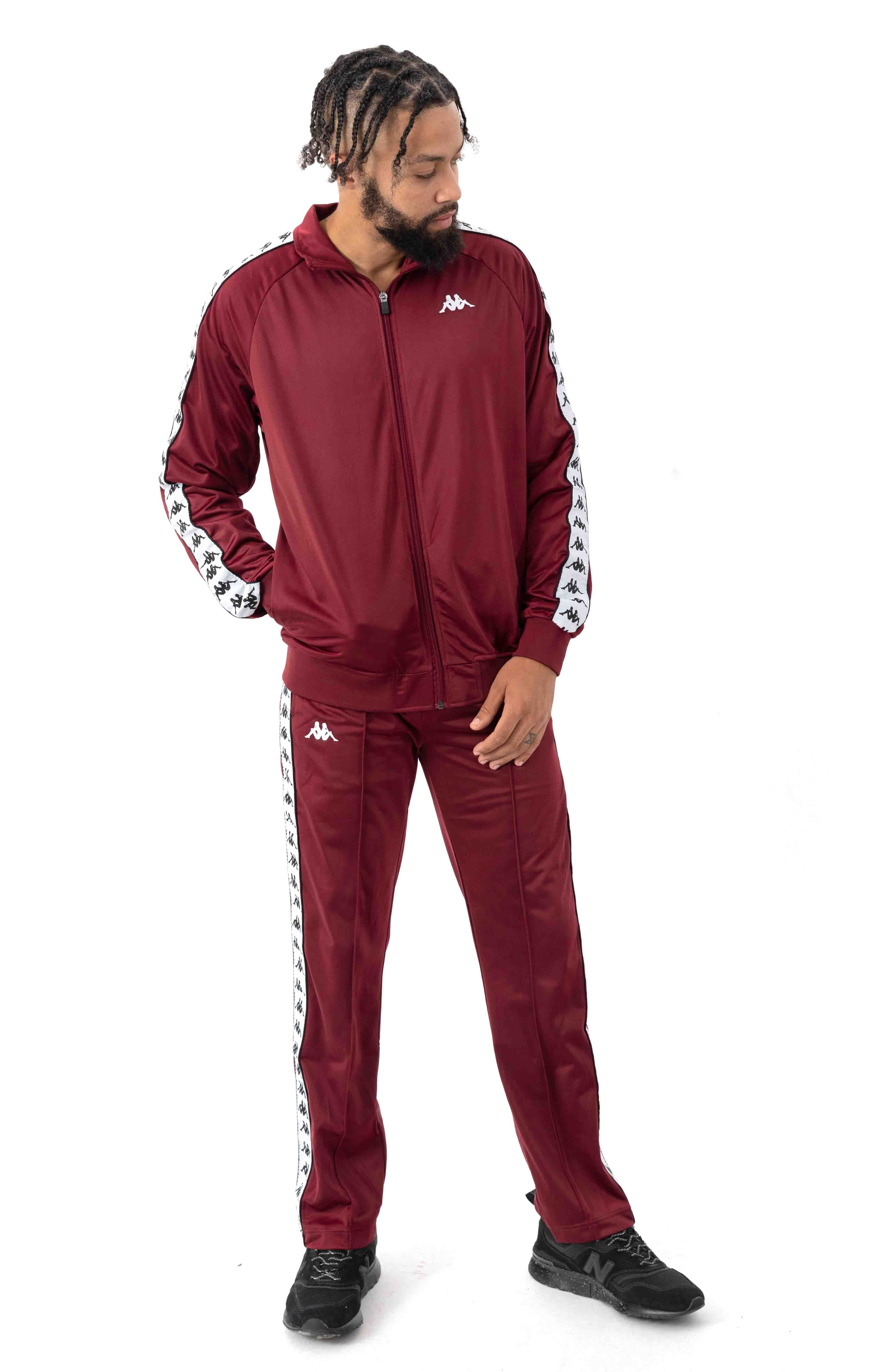 222 Banda Astoriazz Trackpant - Red Dahlia/White 4