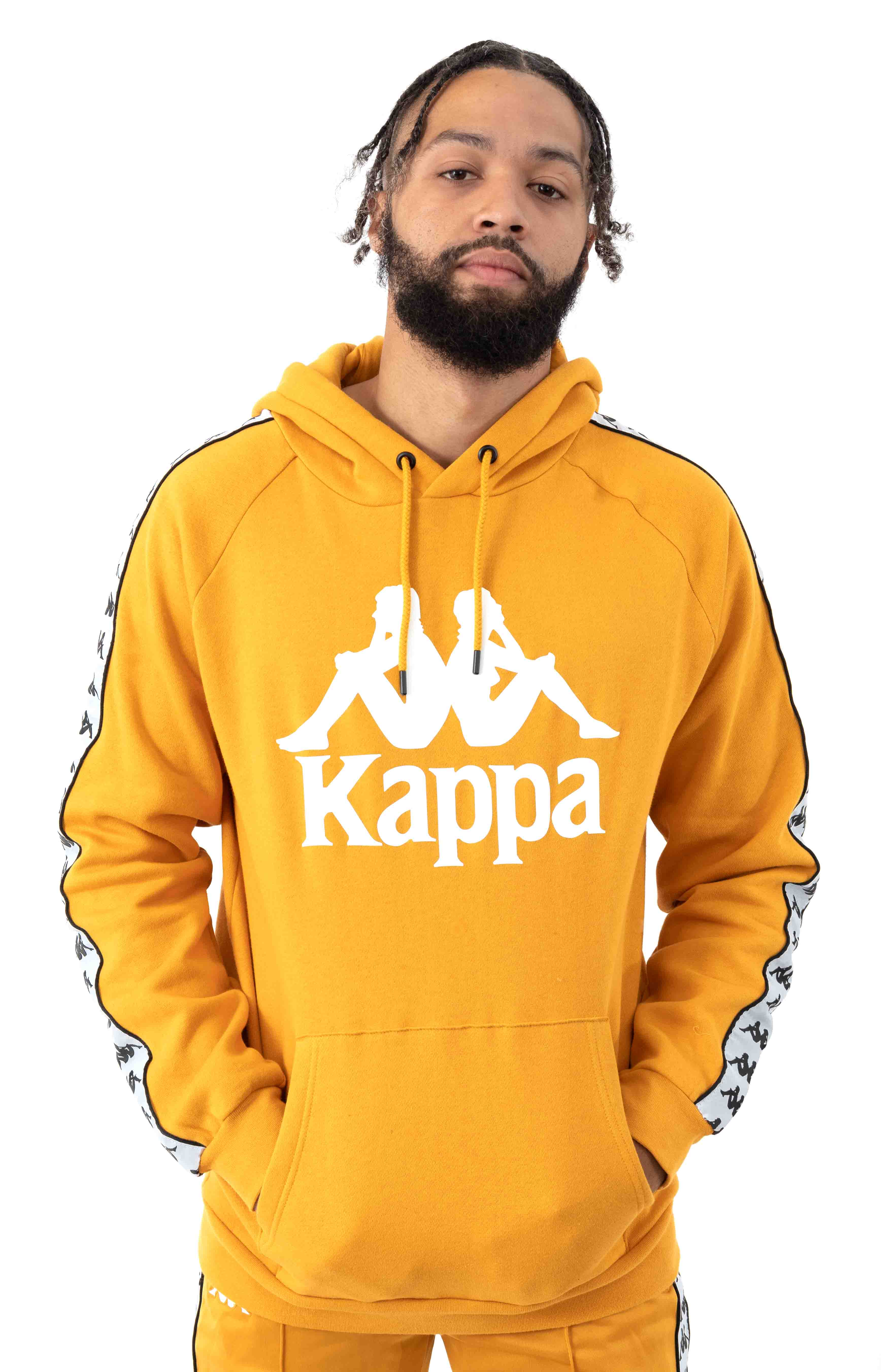 222 Banda Authentic Hurtado 2 Pullover Hoodie - Yellow Ochre/White