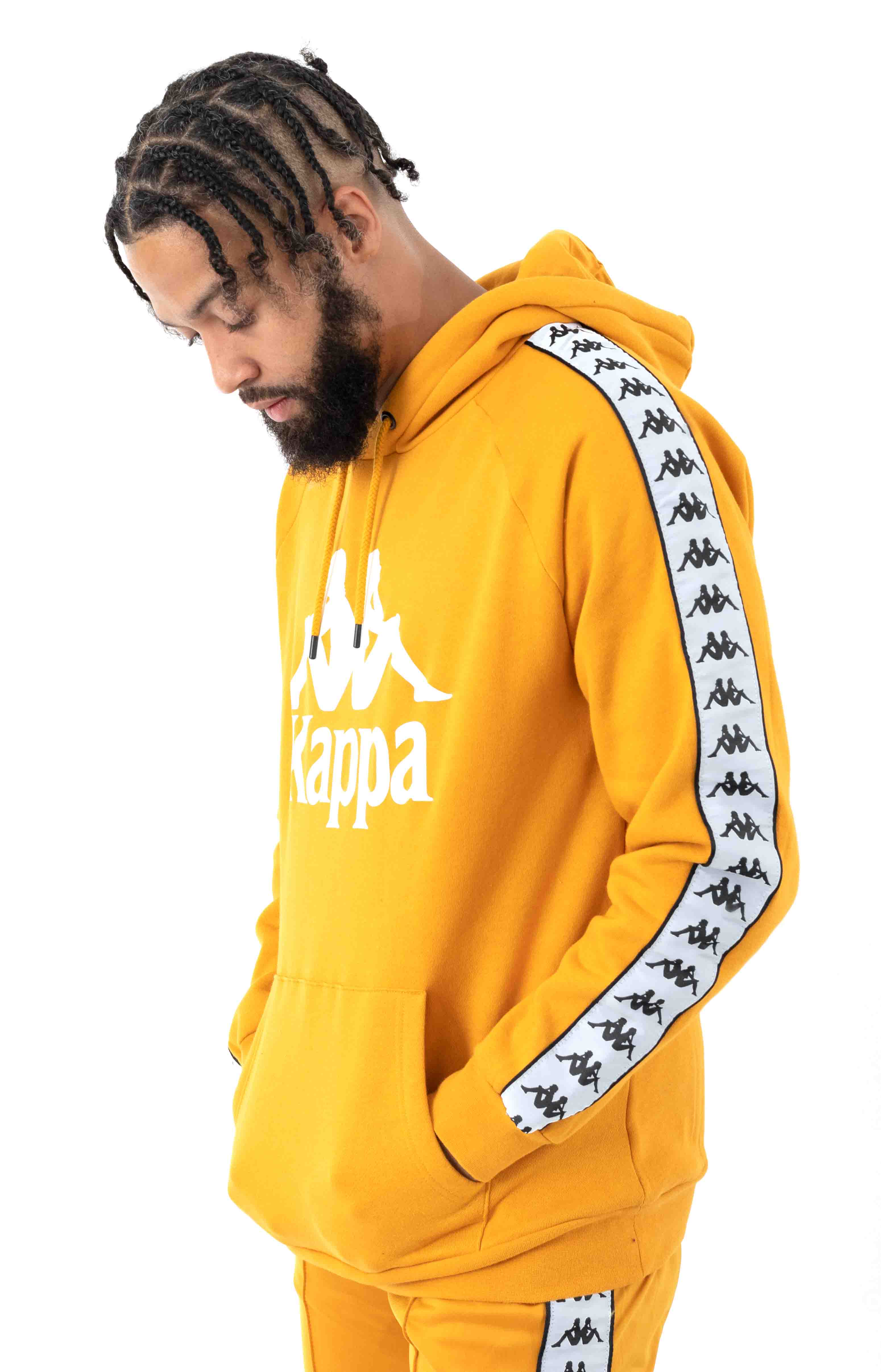 222 Banda Authentic Hurtado 2 Pullover Hoodie - Yellow Ochre/White 2