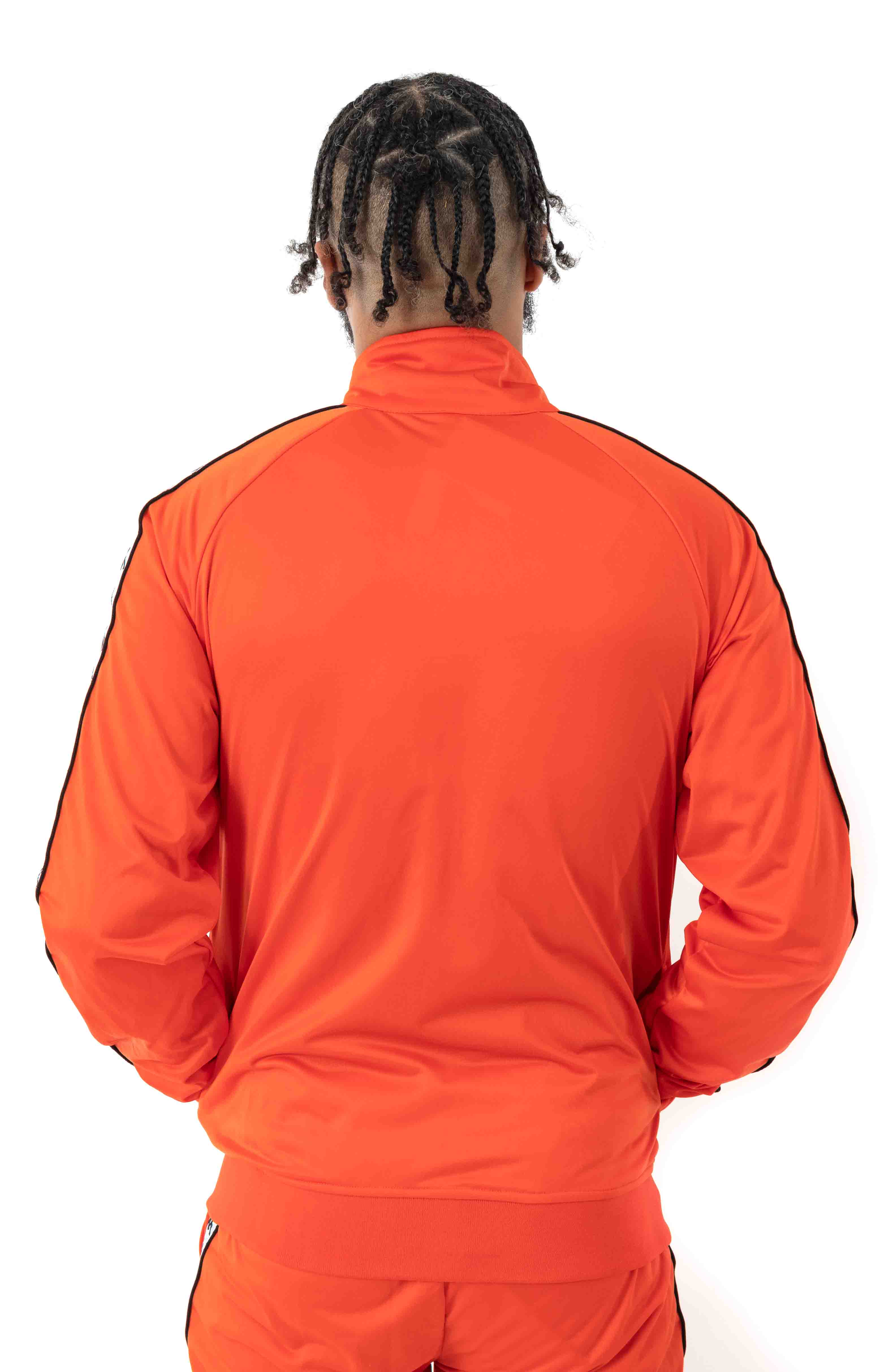 222 Banda Anniston Track Jacket - Orange Flame/White  3