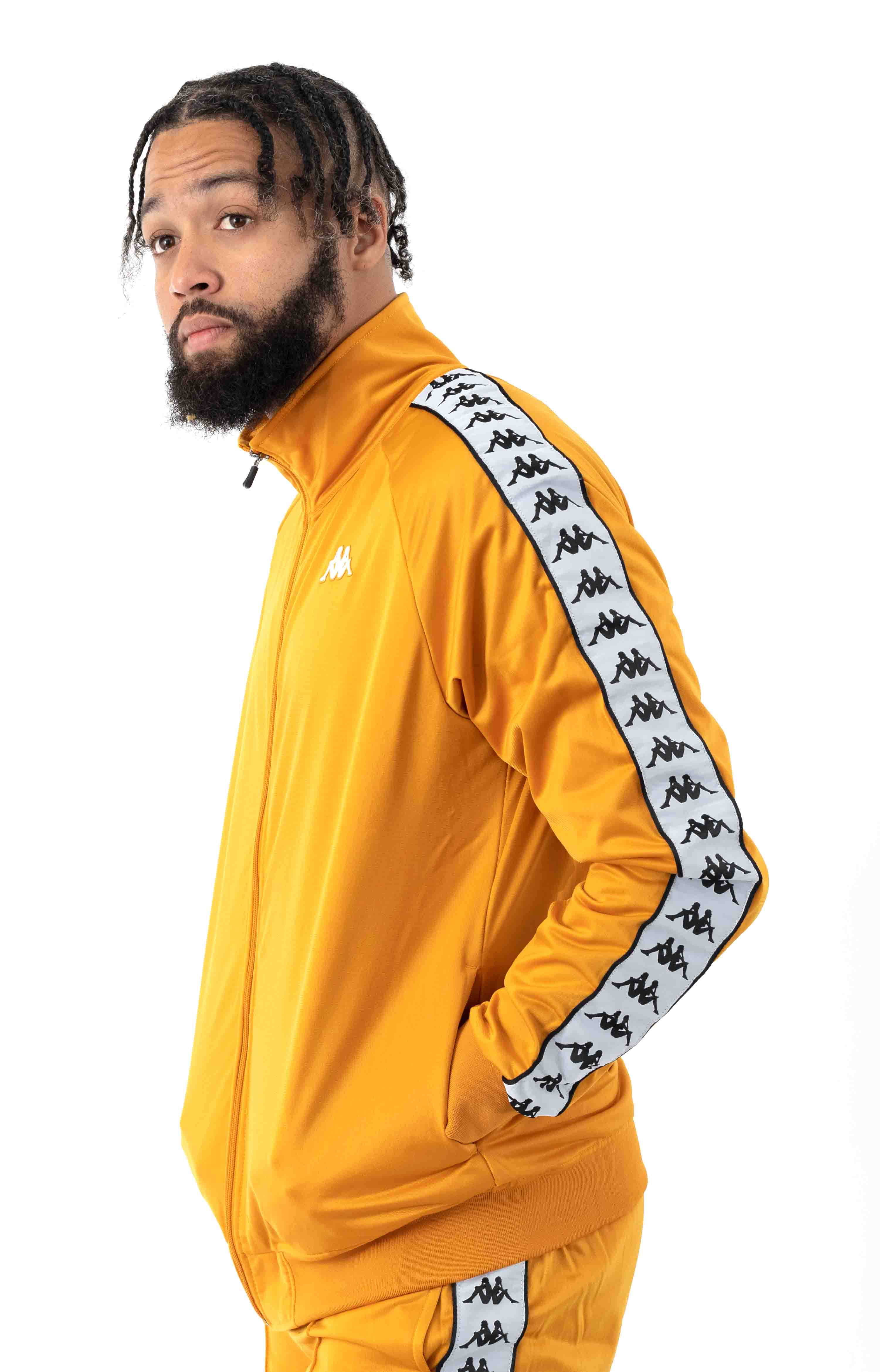 222 Banda Anniston Track Jacket - Yellow Ochre/White  2