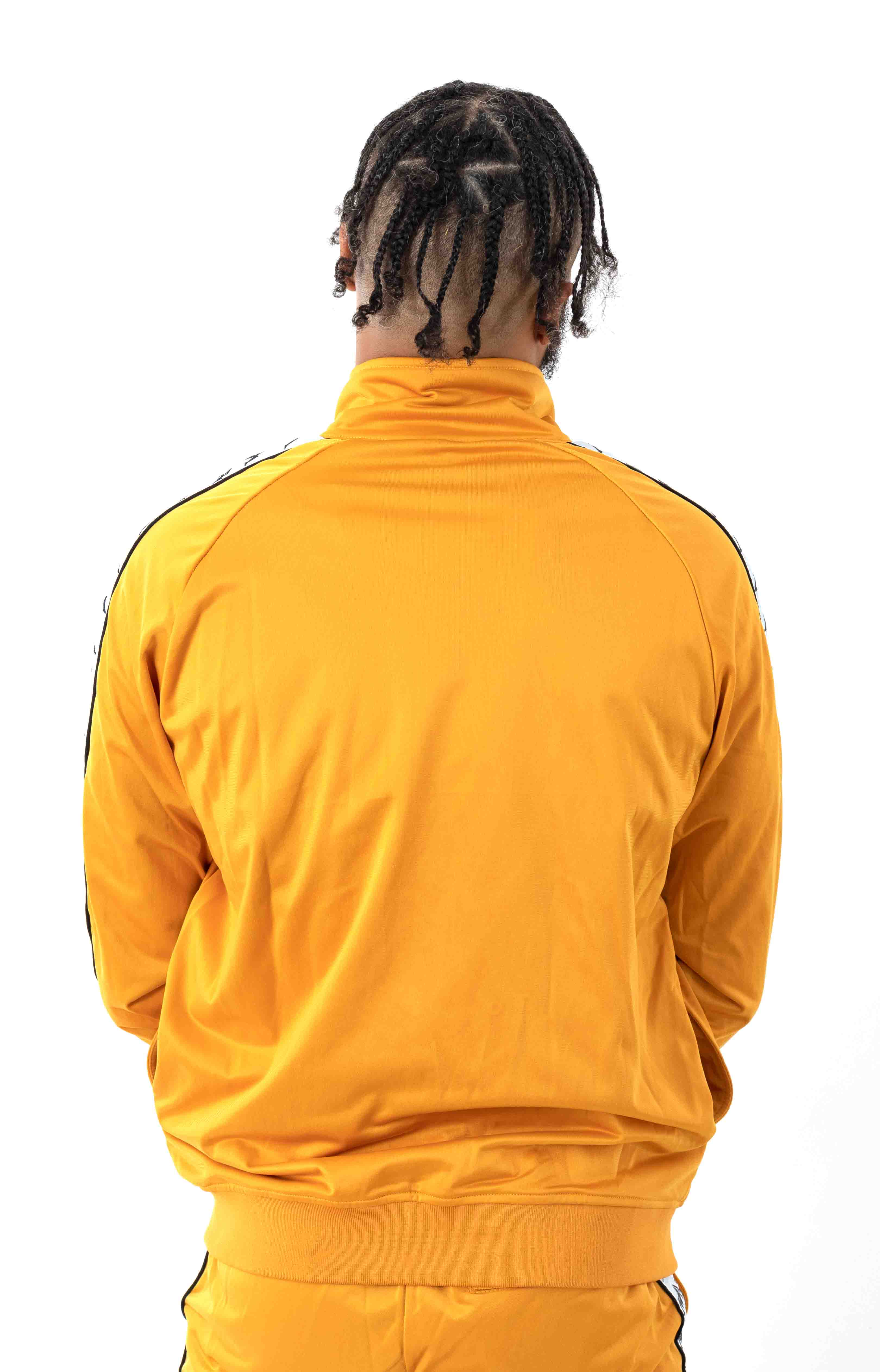 222 Banda Anniston Track Jacket - Yellow Ochre/White  3