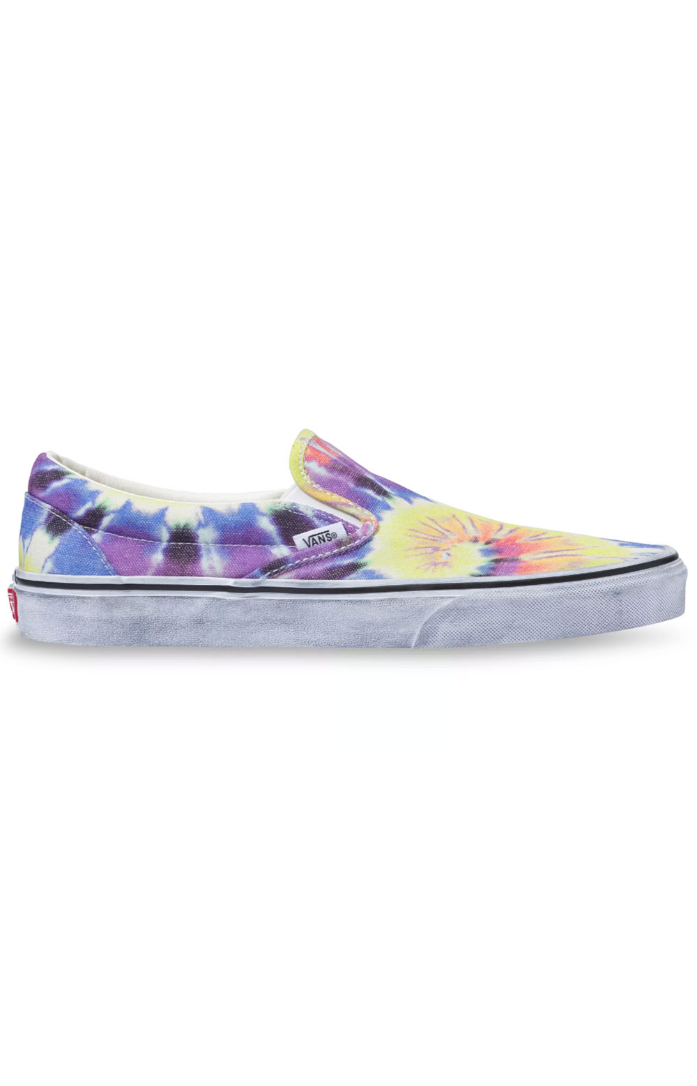 (U3819X) Washed Classic Slip-On Shoes- Tie-Dye/True White