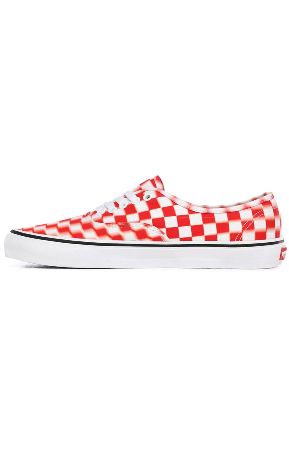 (Z5I17Z) Blur Check Authentic Shoes - True White/Red 3