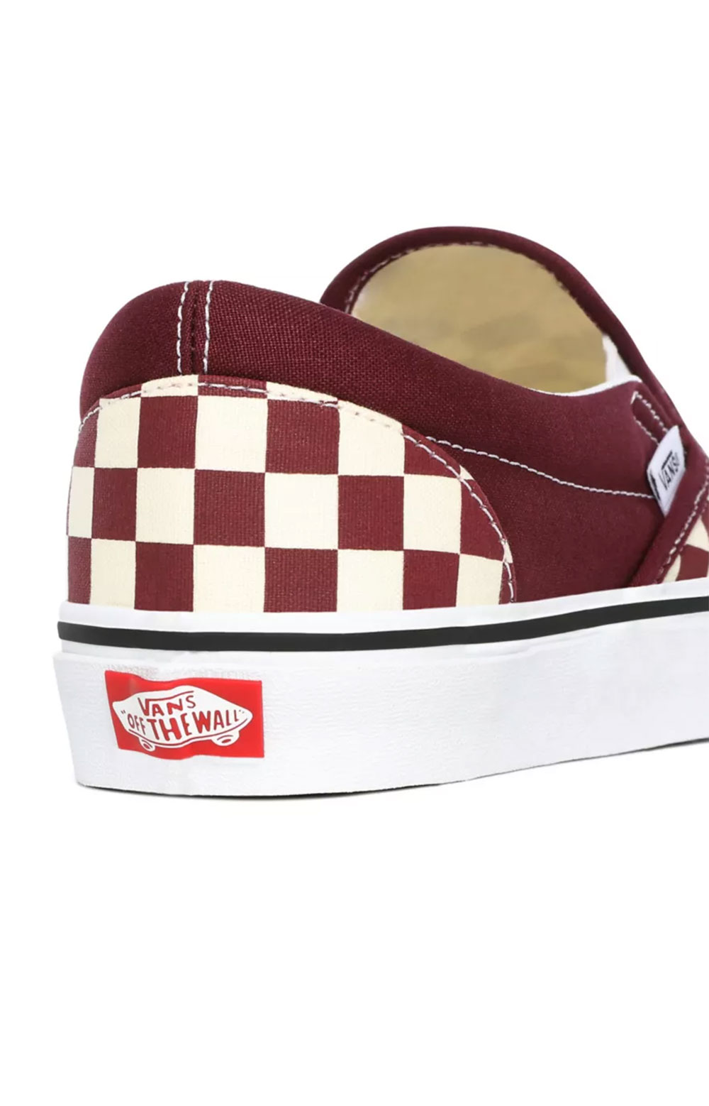 (BV3KZO) Checkerboard Classic Slip-On Shoes- Port Royale/True White  4