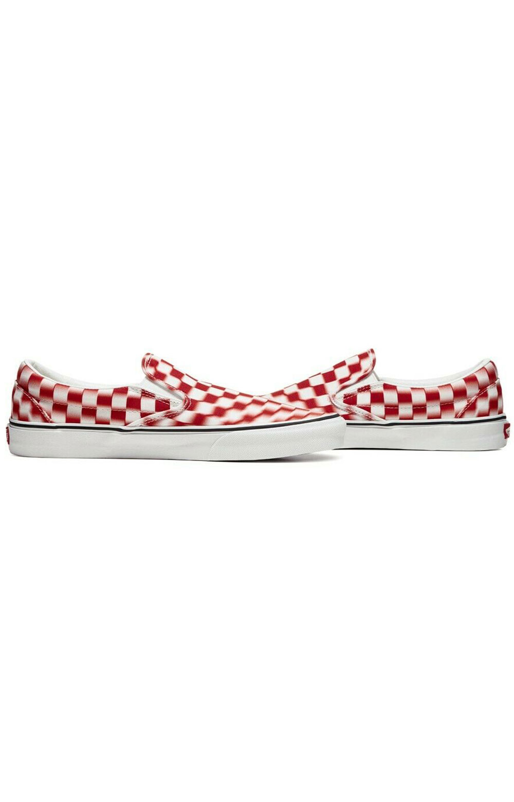 (U3817Z) Blur Check Classic Slip-On Shoe - Ture White/Red 2