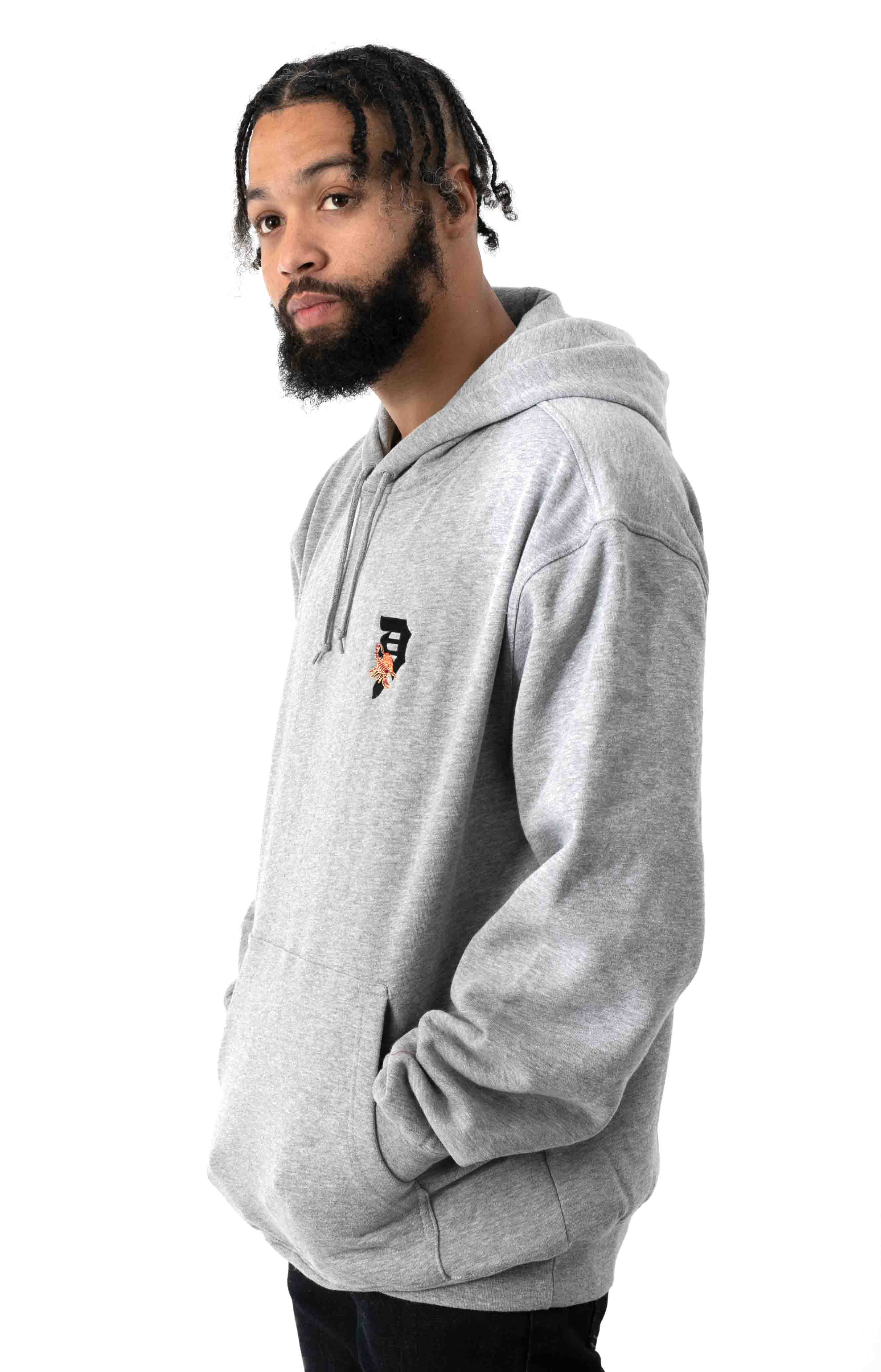 Dirty P Scorpion Pullover Hoodie - Heather Grey 2