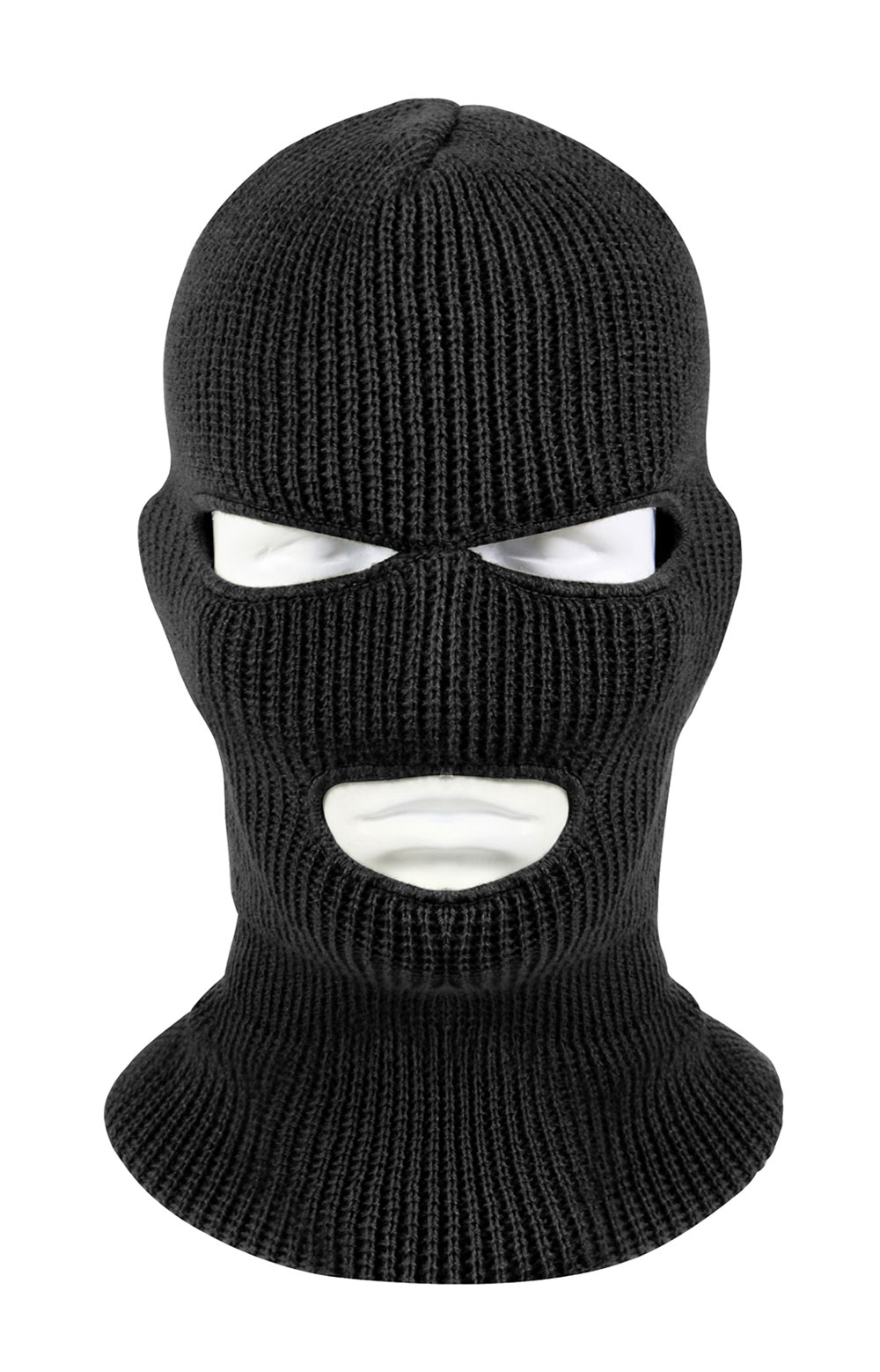 (5504) 3 Hole Face Mask - Black