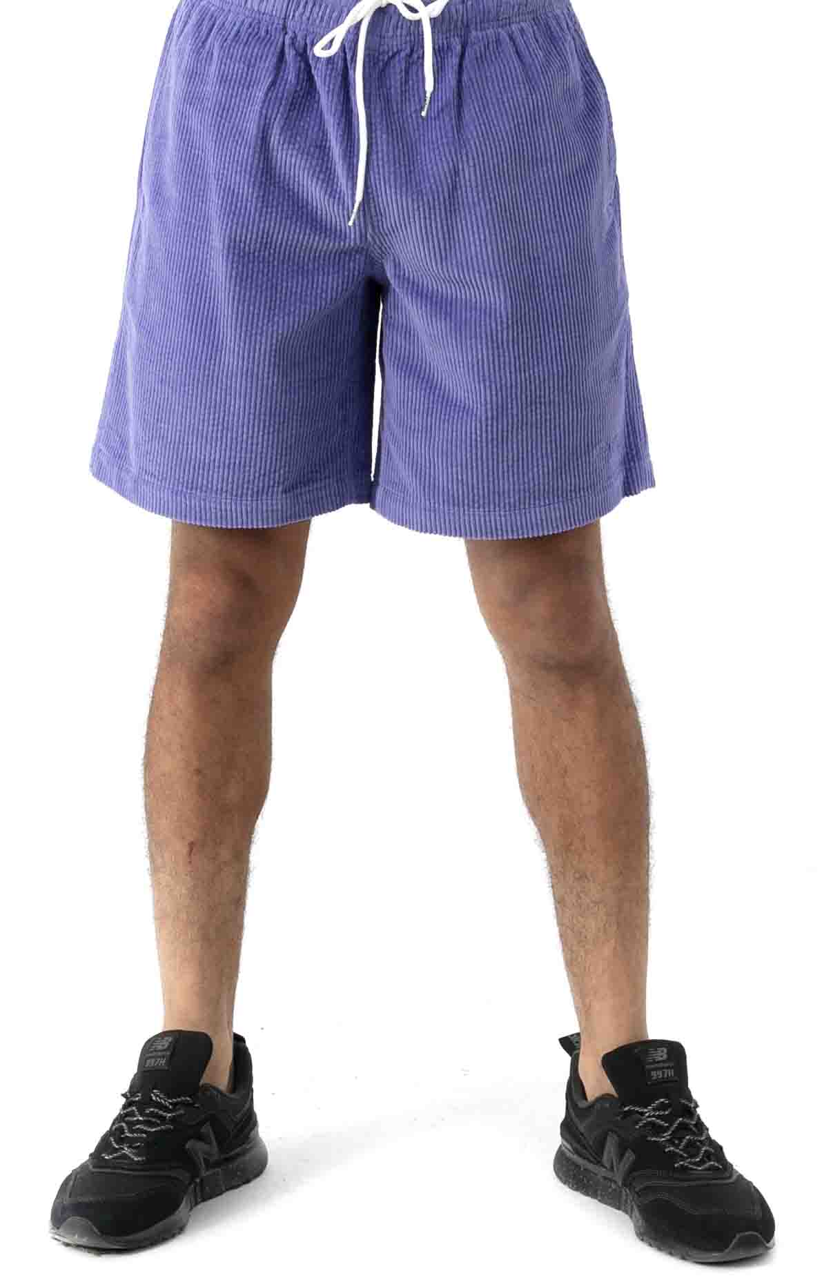 Wide Wale Corduroy Chill Shorts - Periwinkle  2
