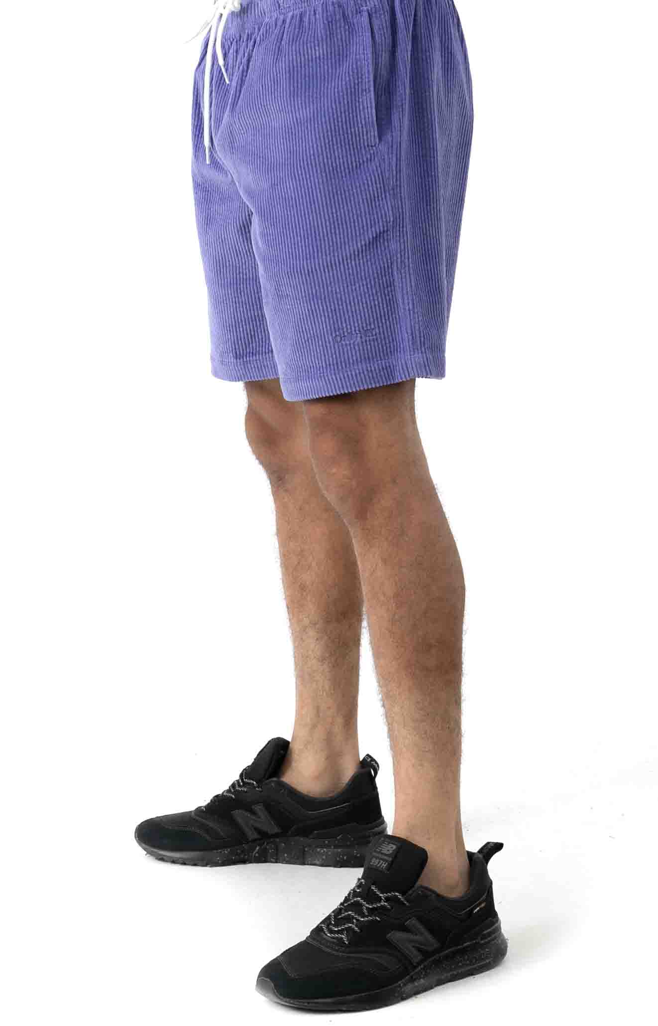 Wide Wale Corduroy Chill Shorts - Periwinkle