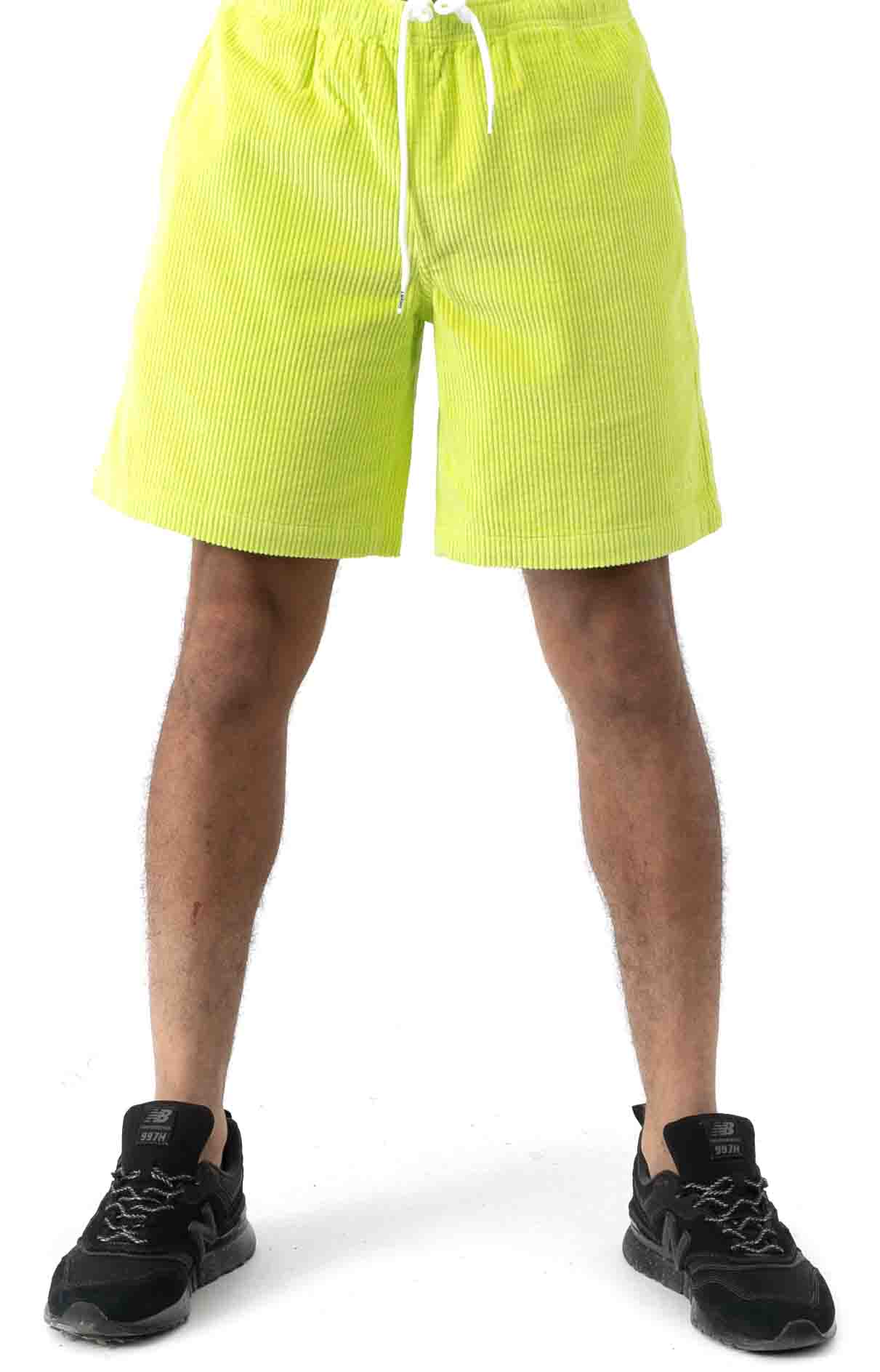 Wide Wale Corduroy Chill Shorts - Neon Green 2