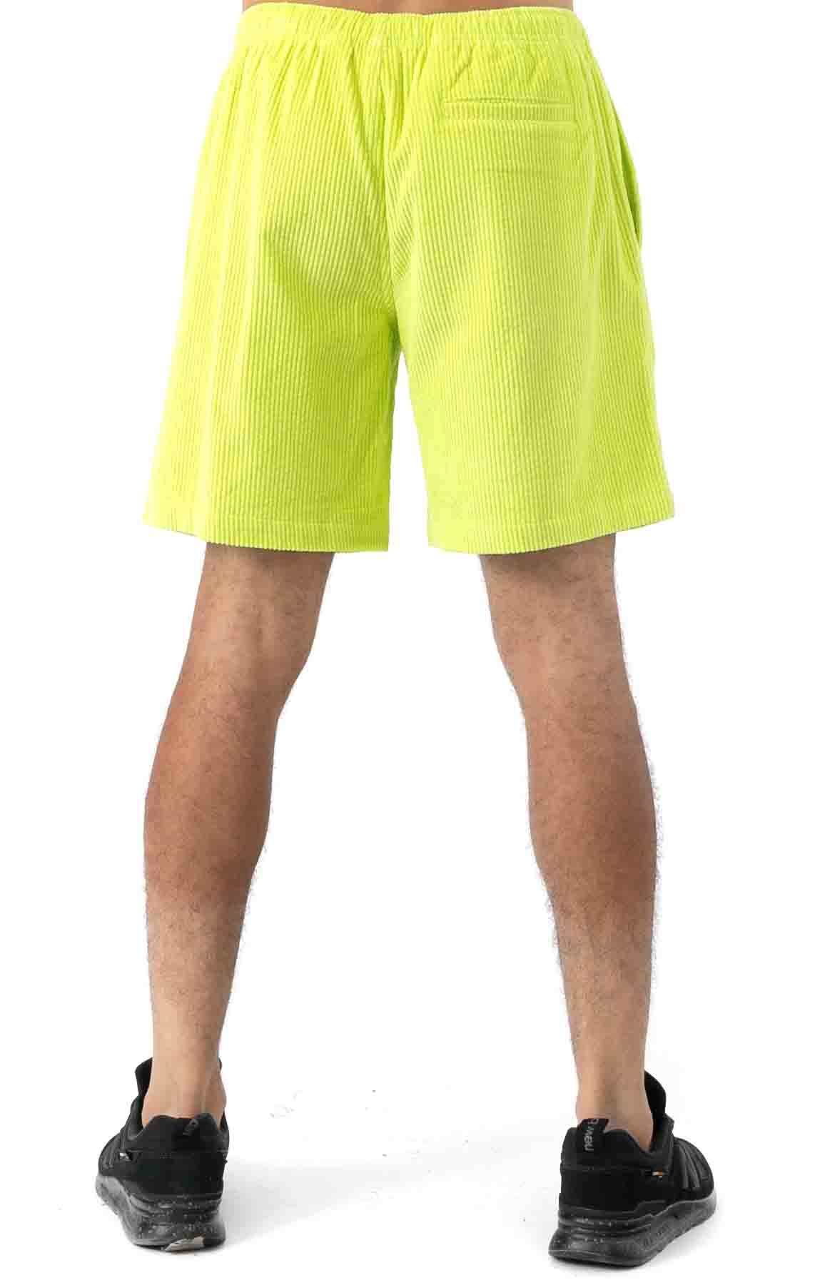 Wide Wale Corduroy Chill Shorts - Neon Green 3