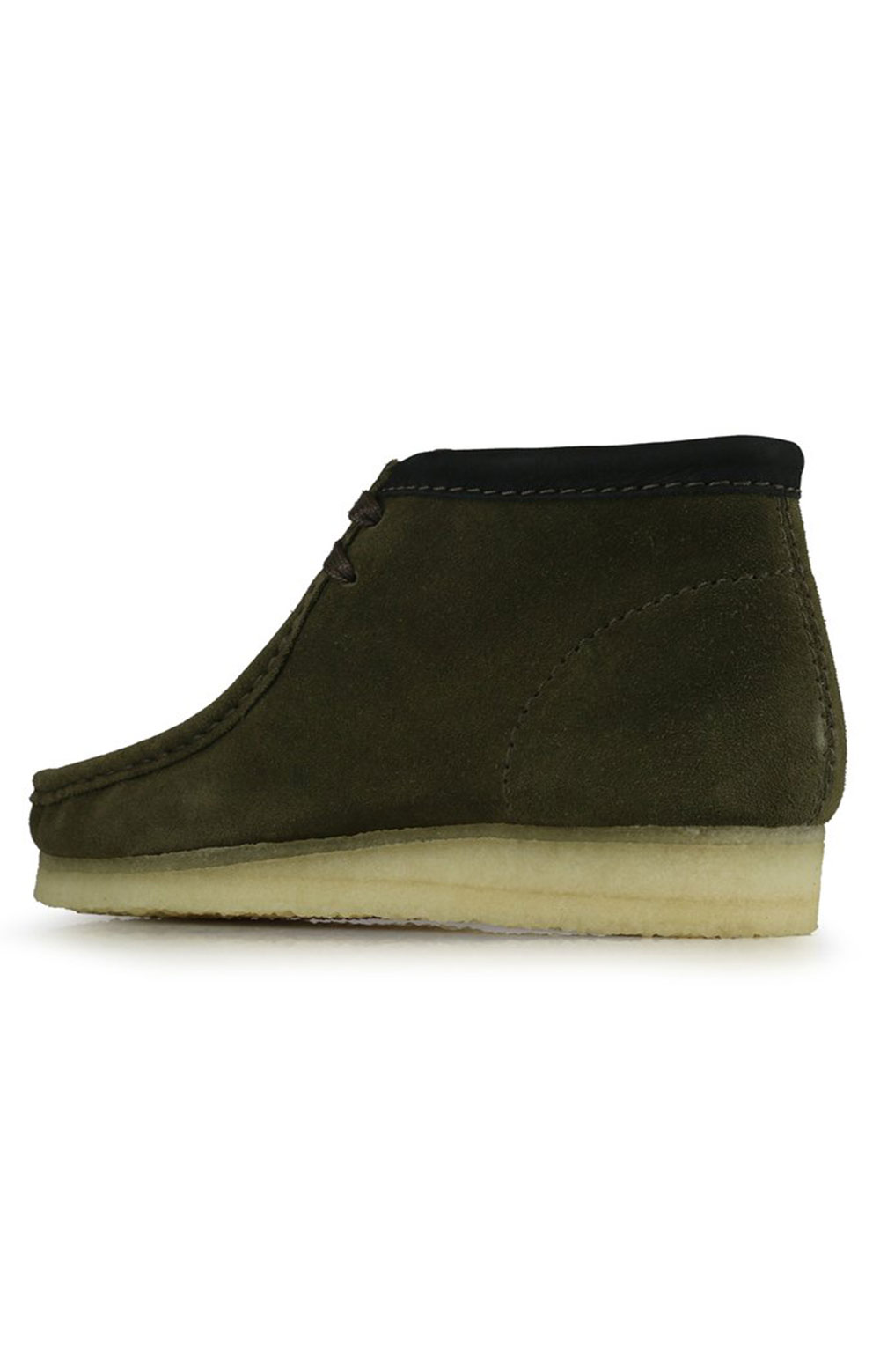 (26154740) Wallabee Boots - Olive Interest  3