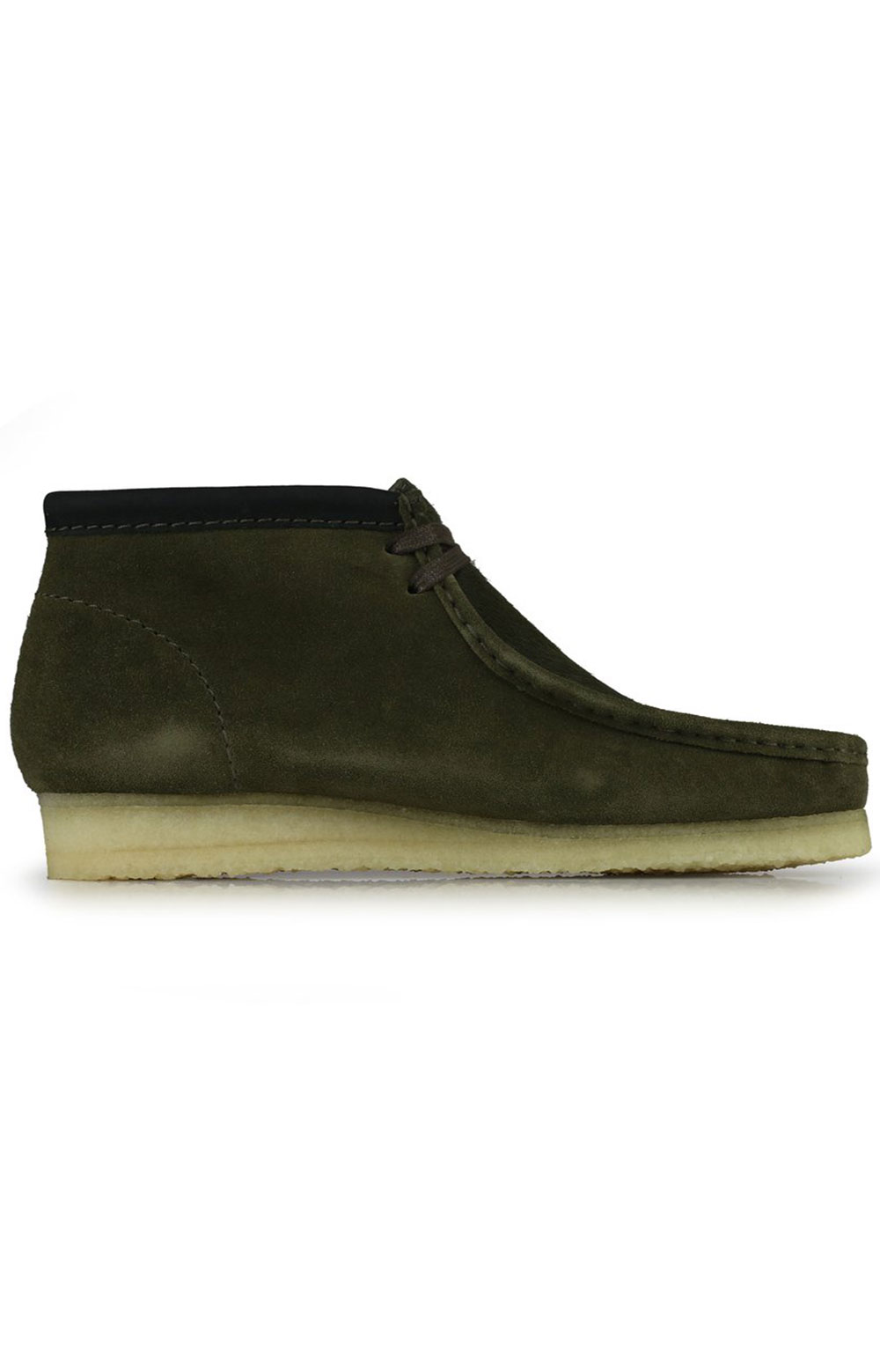 (26154740) Wallabee Boots - Olive Interest
