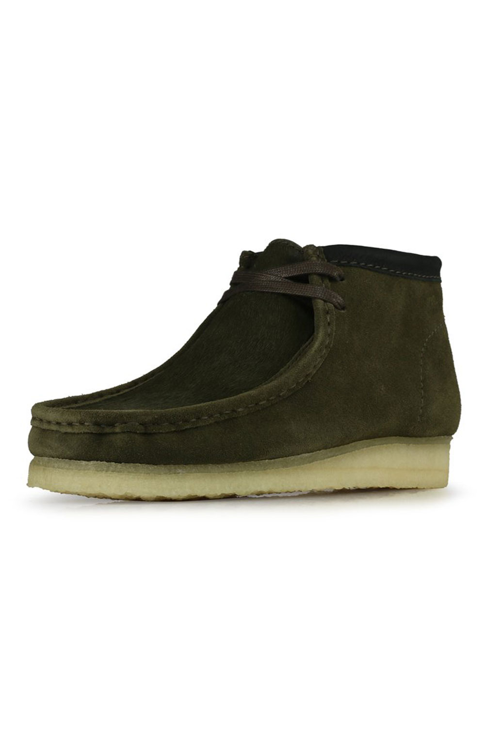 (26154740) Wallabee Boots - Olive Interest  6