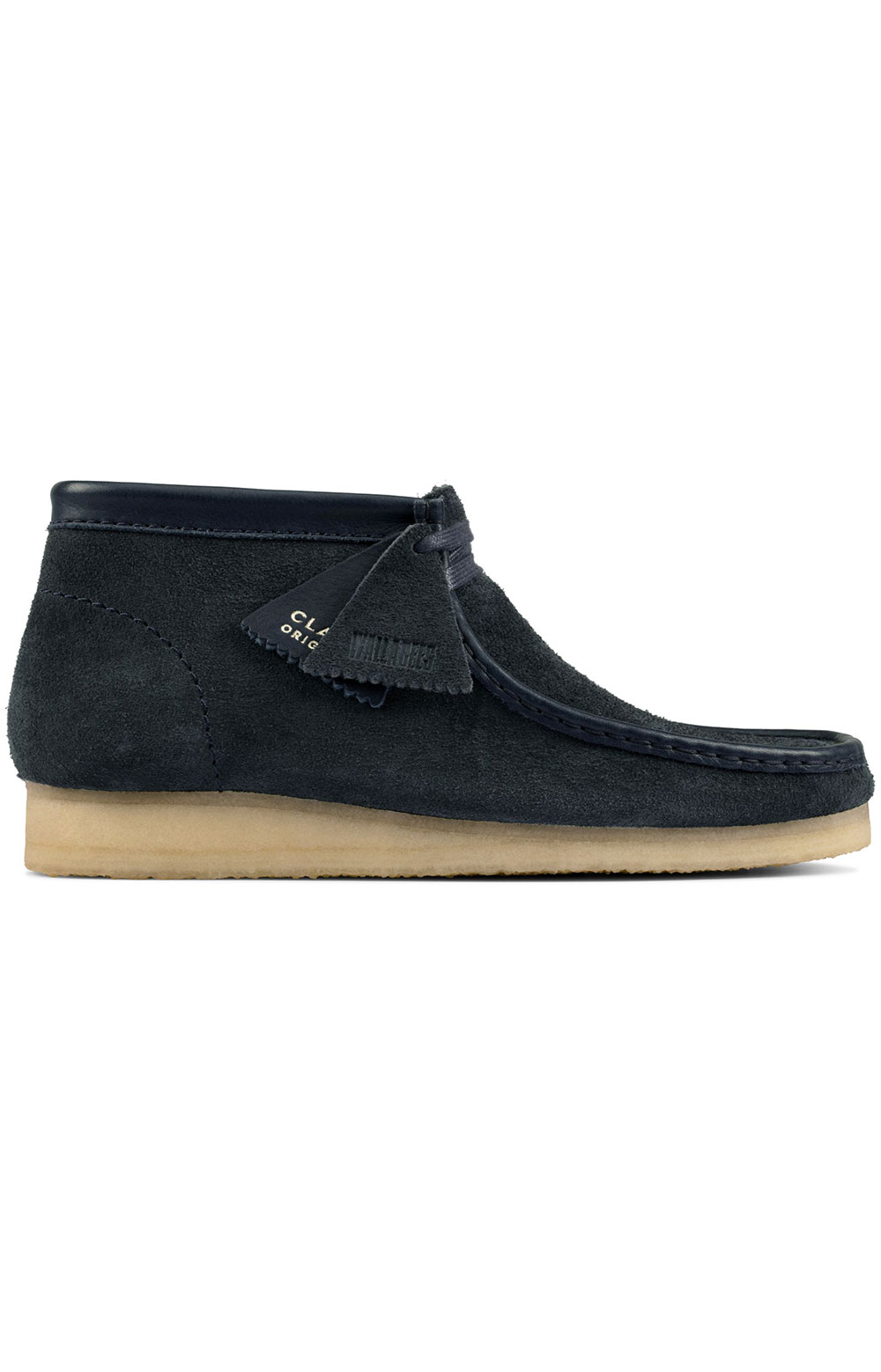 (26155048) Wallabee Boots - Navy Hairy Suede