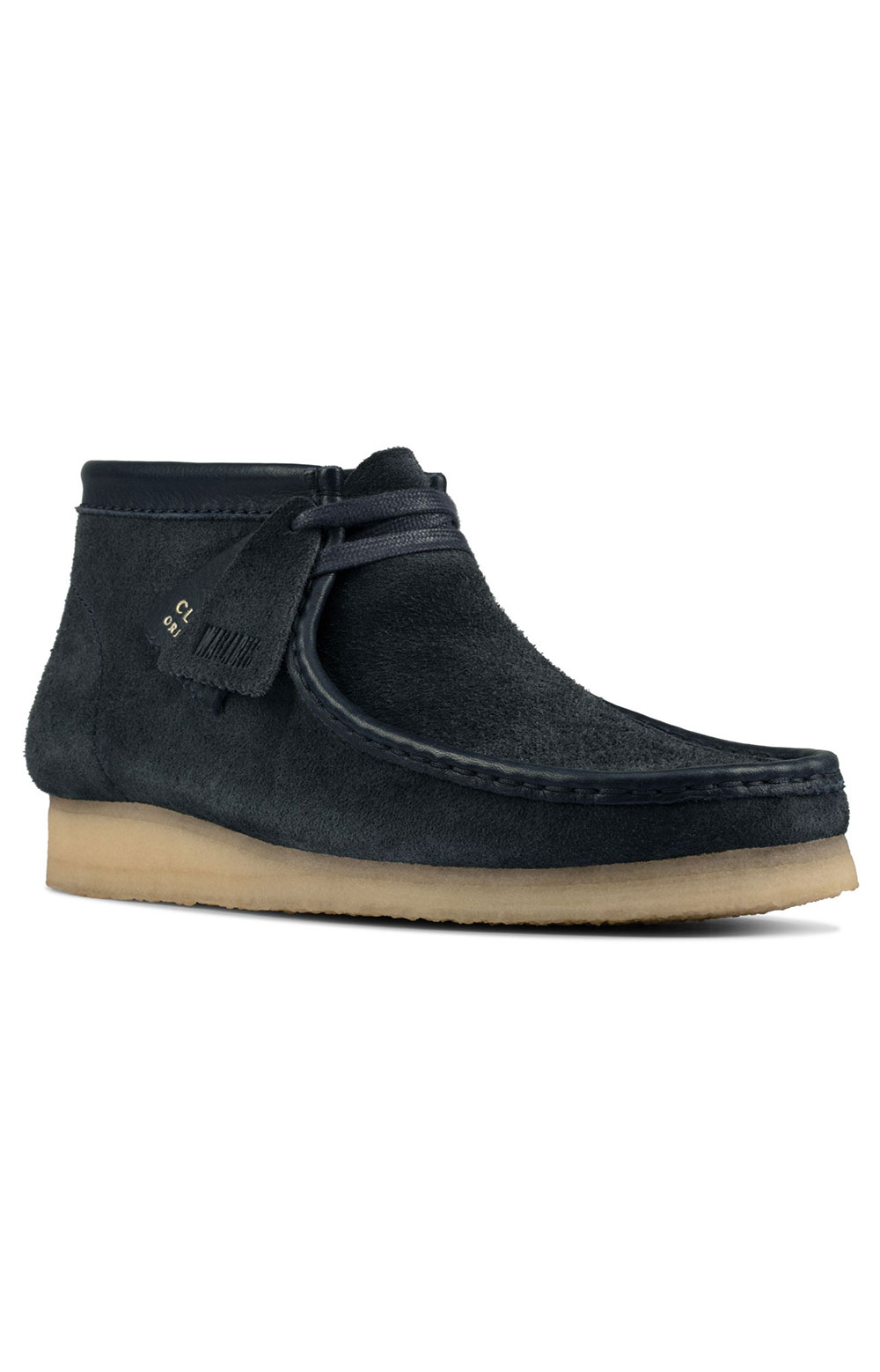(26155048) Wallabee Boots - Navy Hairy Suede  2