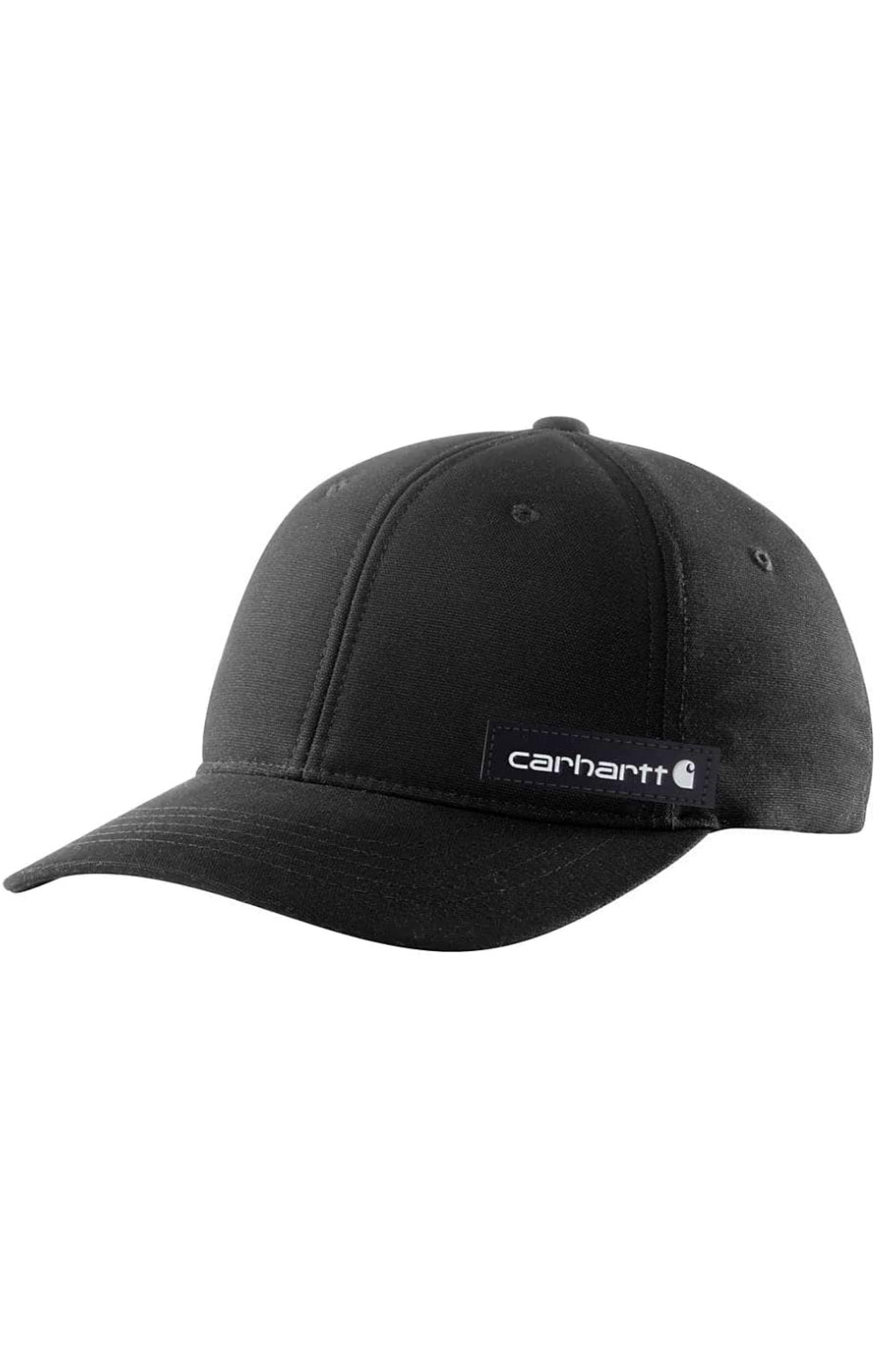 (104298) Rugged Flex Canvas Full-Back Fitted Logo Graphic Cap - Black