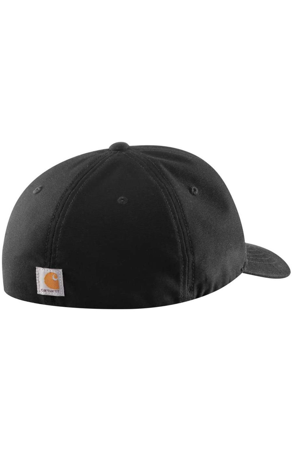 (104298) Rugged Flex Canvas Full-Back Fitted Logo Graphic Cap - Black 2