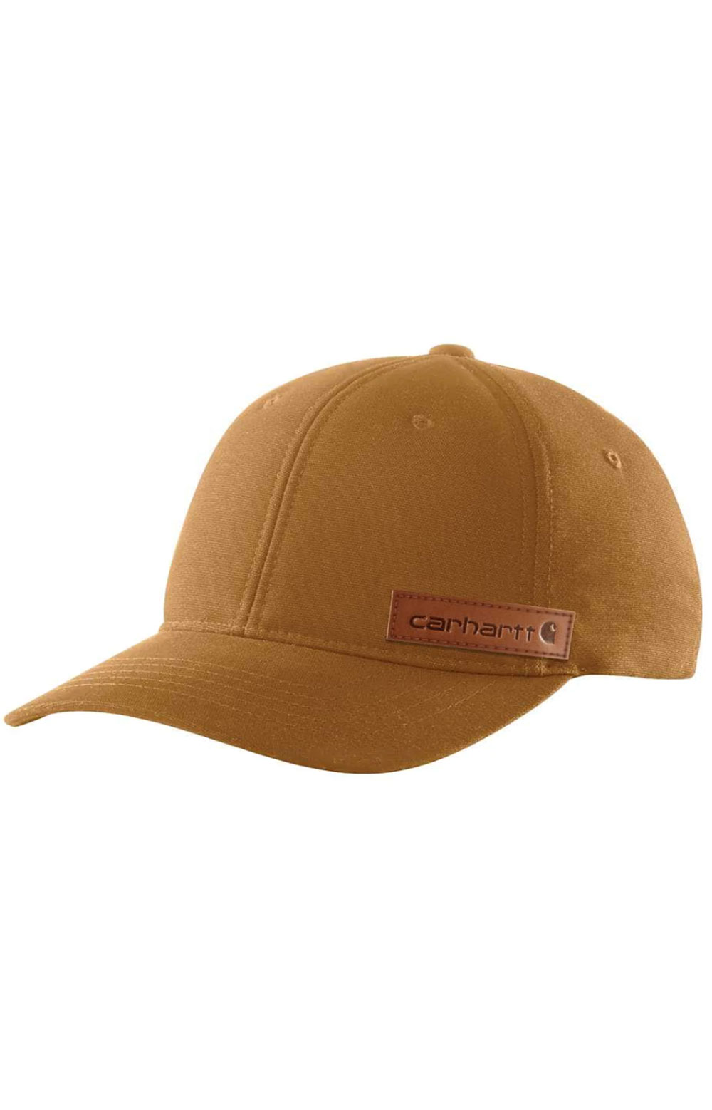 (104298) Rugged Flex Canvas Full-Back Fitted Logo Graphic Cap - Carhartt Brown