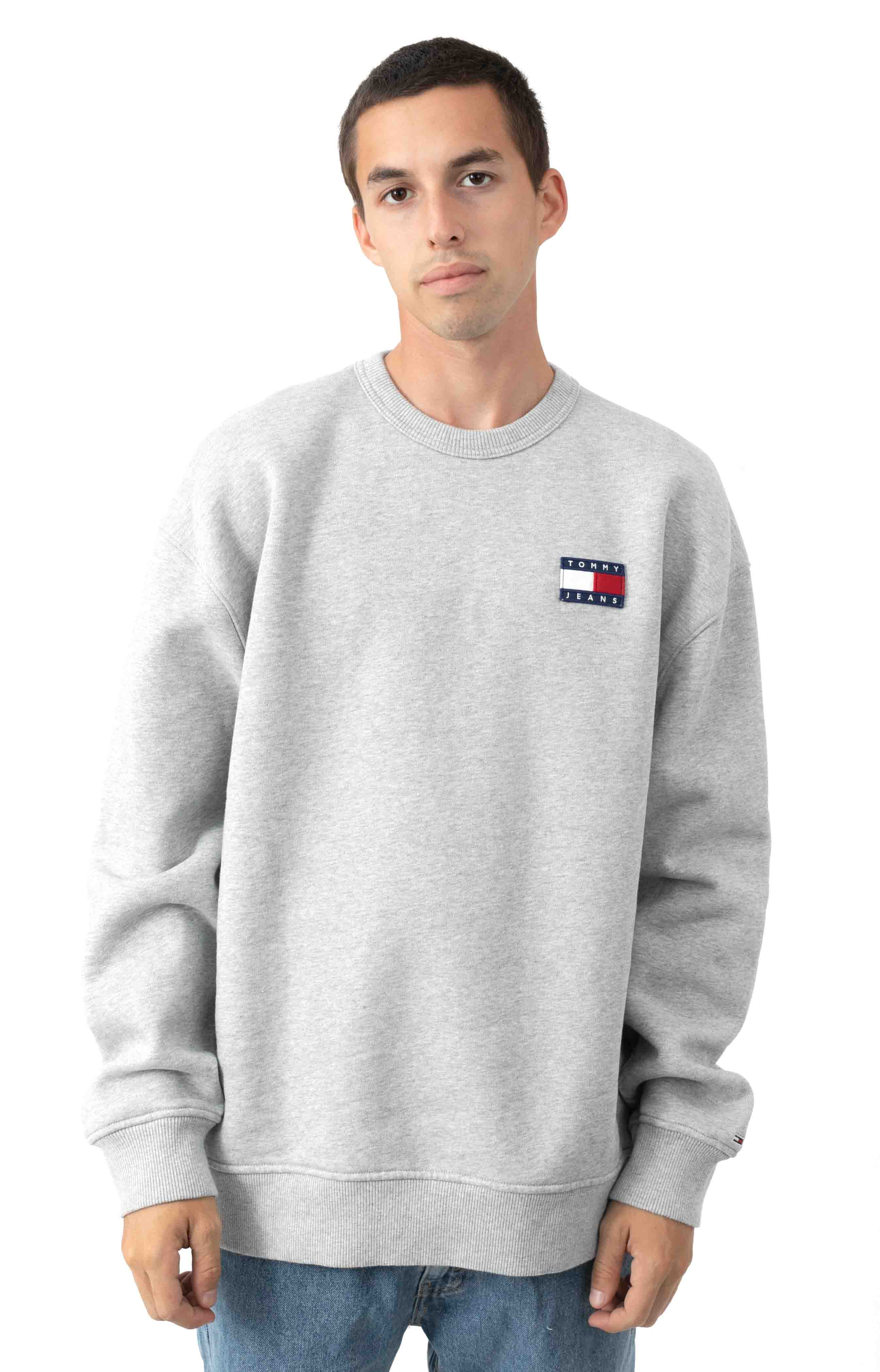 Jai Badge Sweatshirt - Metal Grey