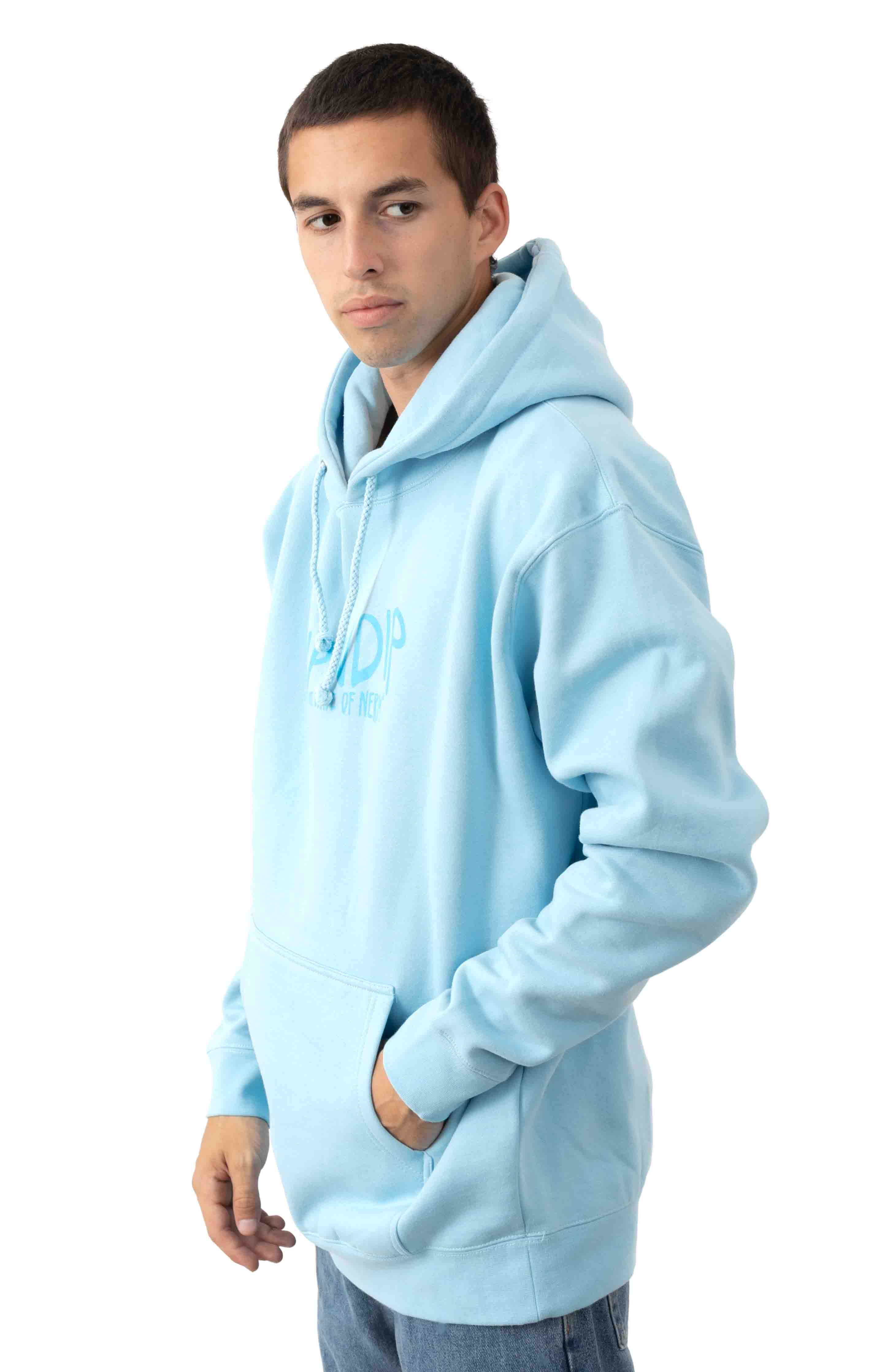 Great Wave Pullover Hoodie - Baby Blue  3