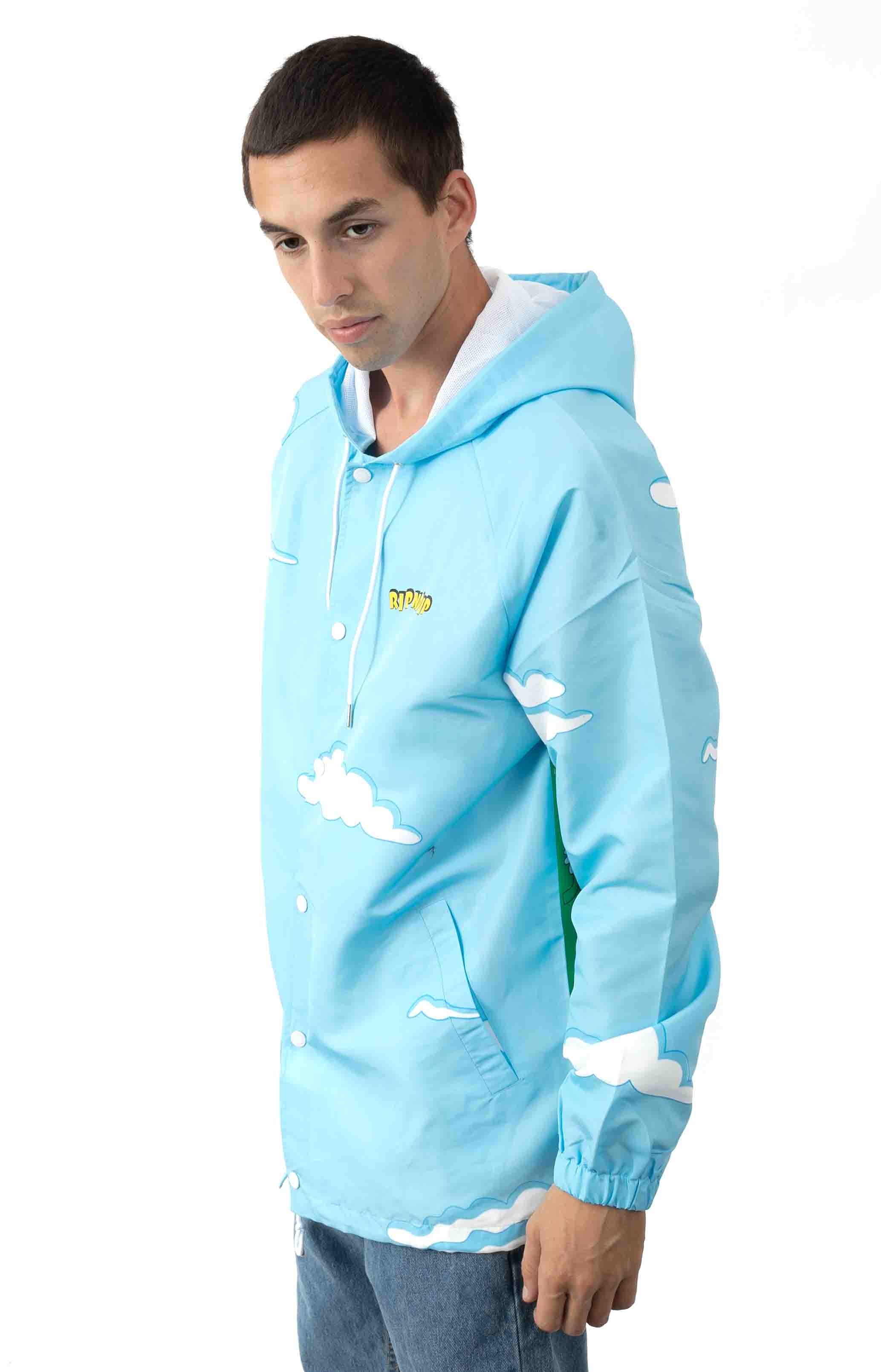 No Place Like Home Hooded Coaches Jacket - Baby Blue  3